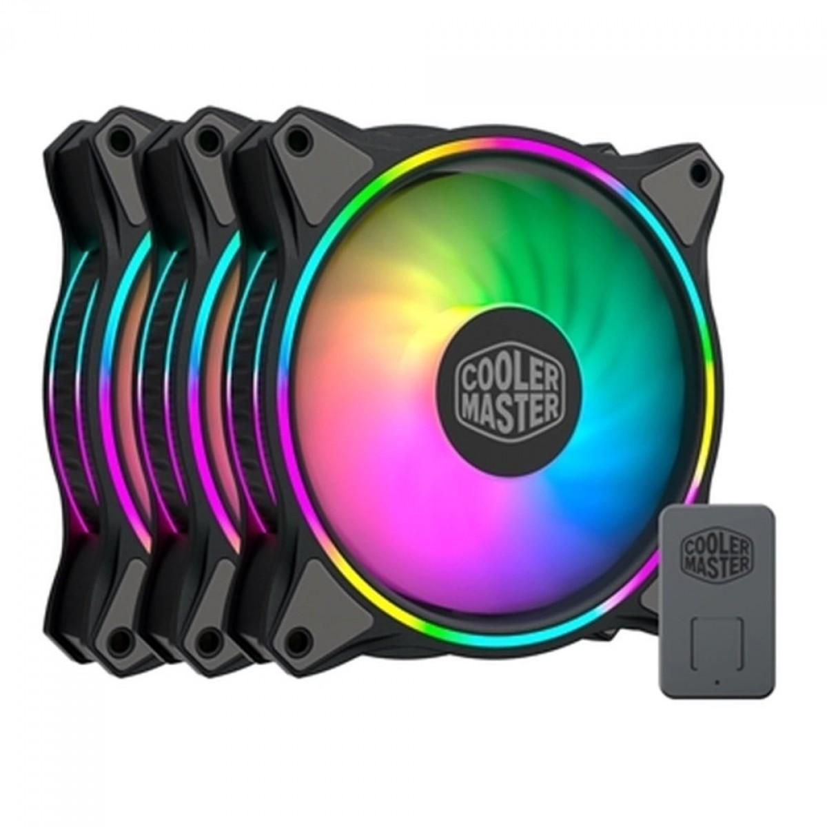 Kit Fan com 3 Unidades Cooler Master MF120 Halo, ARGB, 120mm, MFL-B2DN-183PA-R1