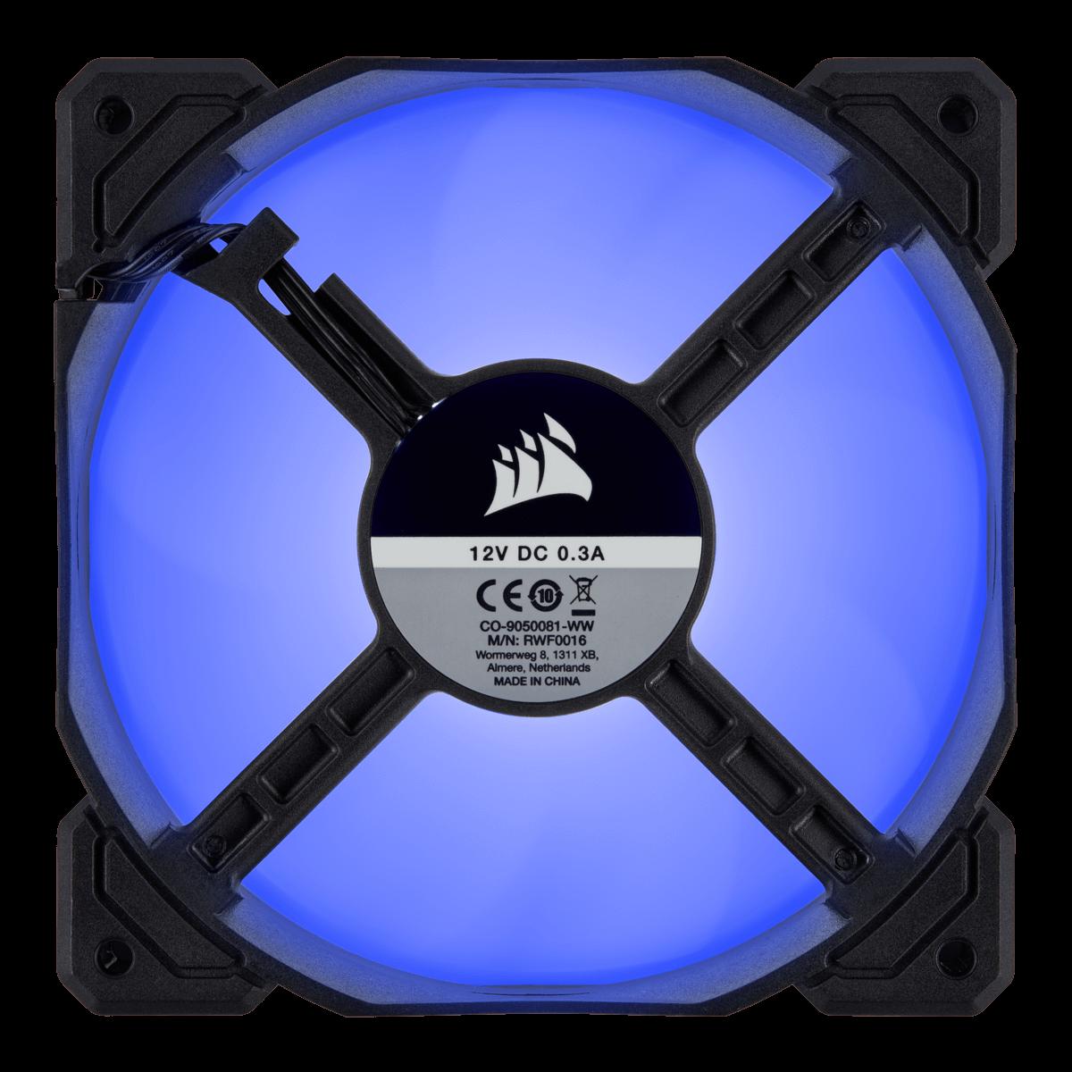 Kit Fan com 3 Unidades Corsair AF120, Led Blue 120mm, CO-9050084-WW
