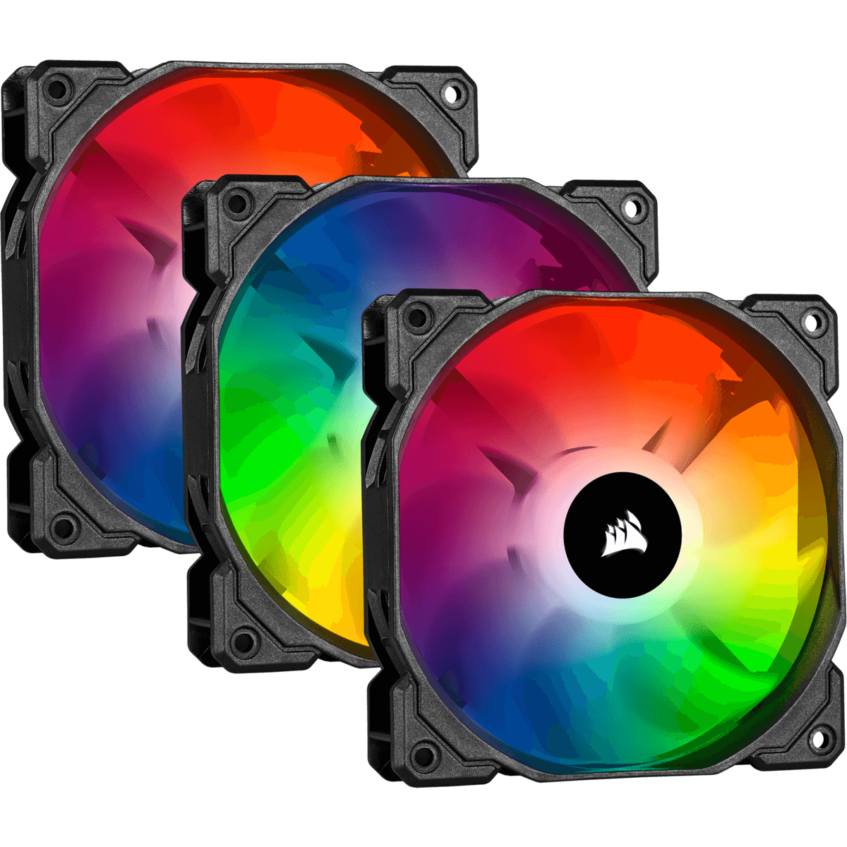 Kit Fan com 3 Unidades Corsair iCue SP120, RGB Pro, 120mm, CO-9050094-WW
