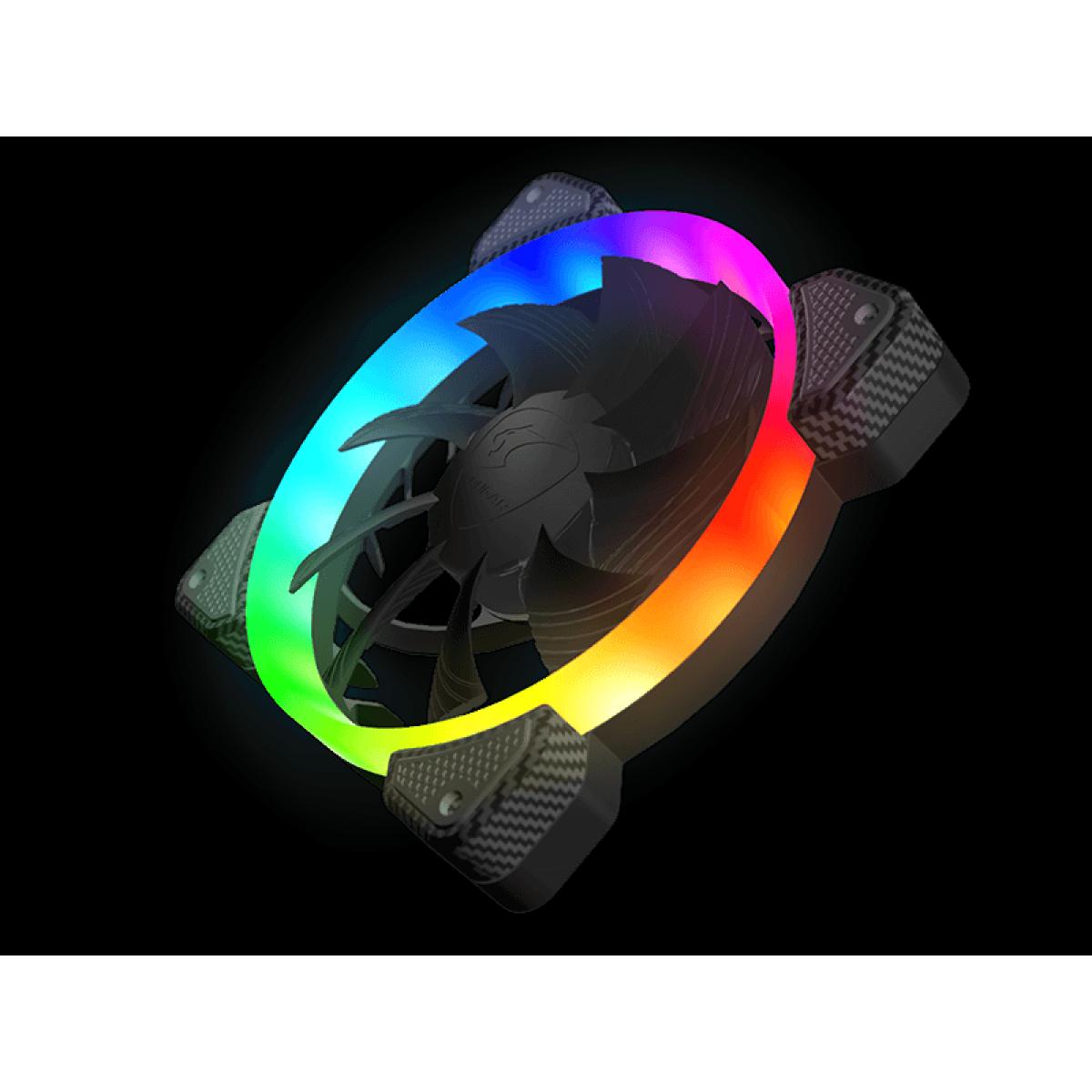 Kit Fan com 3 Unidades Cougar Vortex, RGB, FCB, Com Controladora, 120mm, 3MFCBKIT.0001