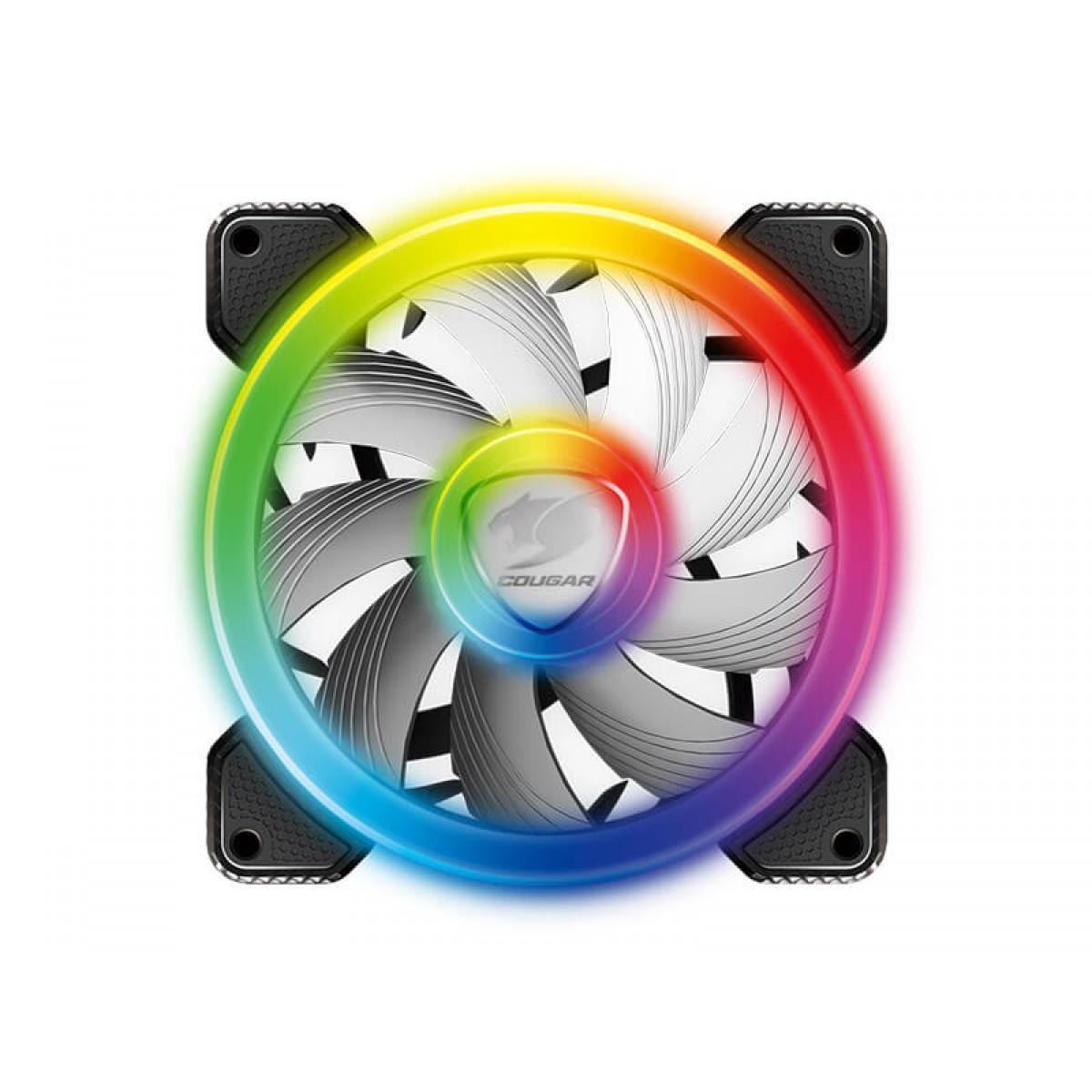 Kit Fan com 3 Unidades Cougar Vortex, RGB, SPB, 120mm, 3MSPBKIT.0001