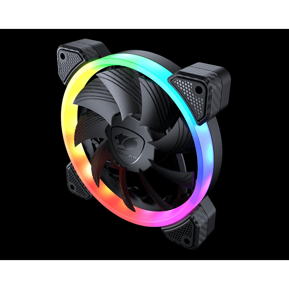 Kit Fan com 3 Unidades Cougar Vortex VK120, RGB, PWM, HDB, 120mm, 3MVK1203.0001