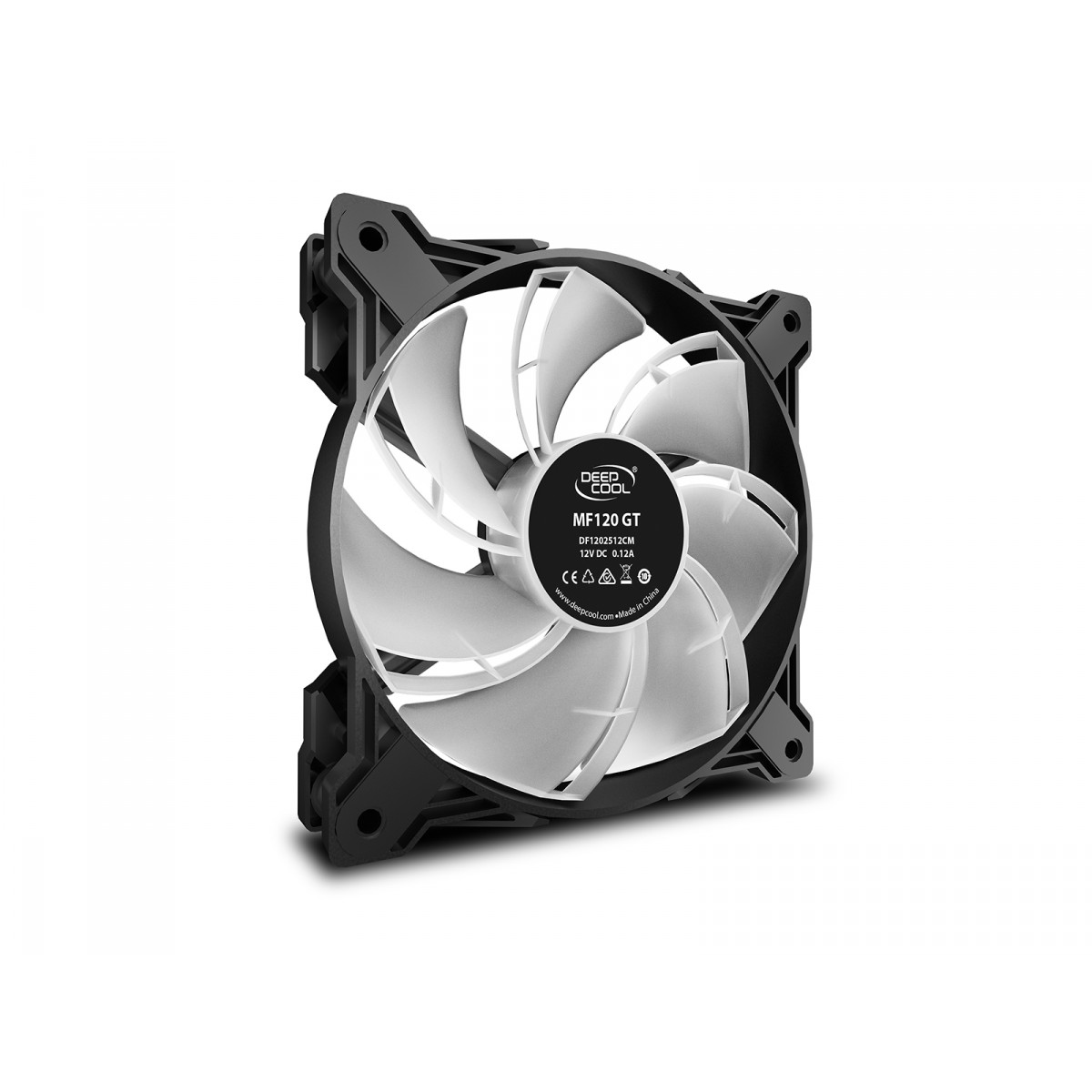 Kit Fan com 3 Unidades DeepCool, ADD-RGB 120mm, MF120 GT First Class, DP-GS-F12-AR-MF120GT-3P