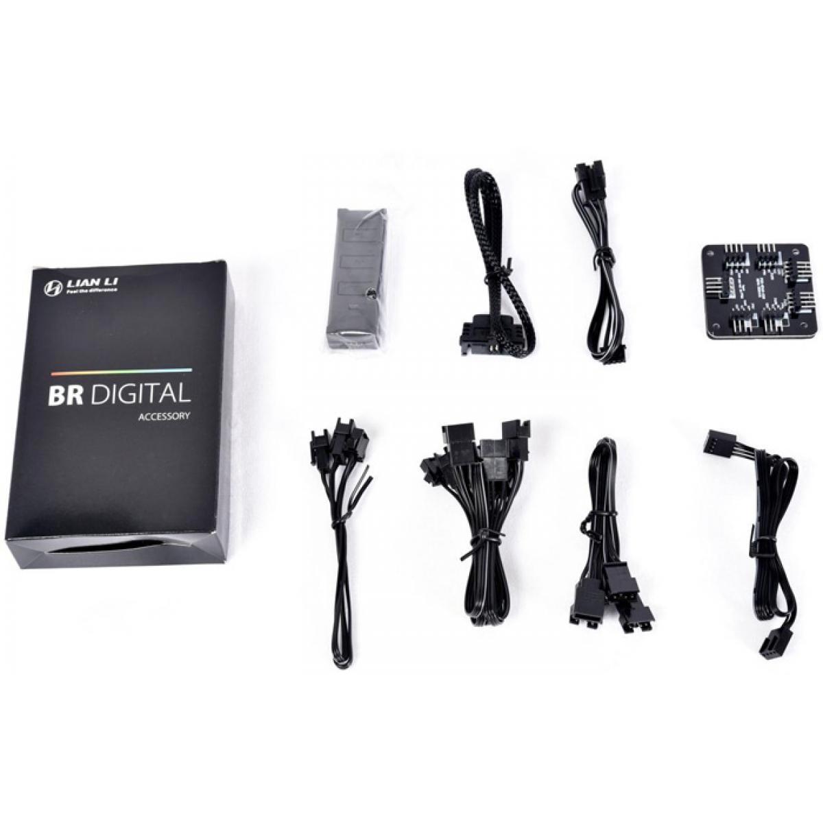 Kit Fan com 3 Unidades Lian Li Bora Digital RGB 120mm, Silver
