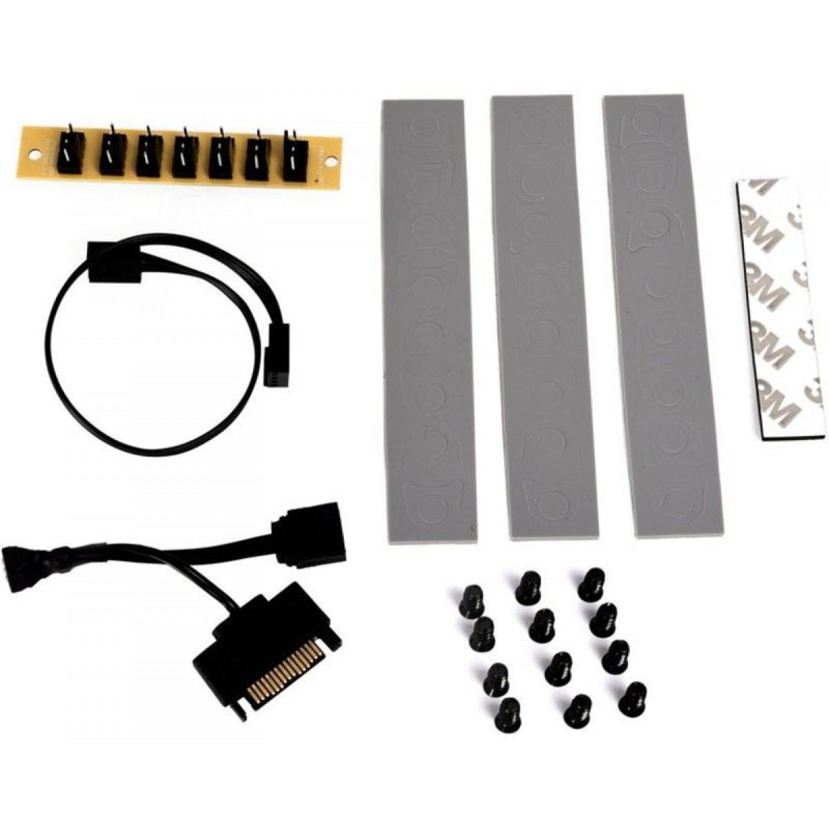 Kit Fan com 3 Unidades Bora Lian Li BR Lite RGB 120mm, Black