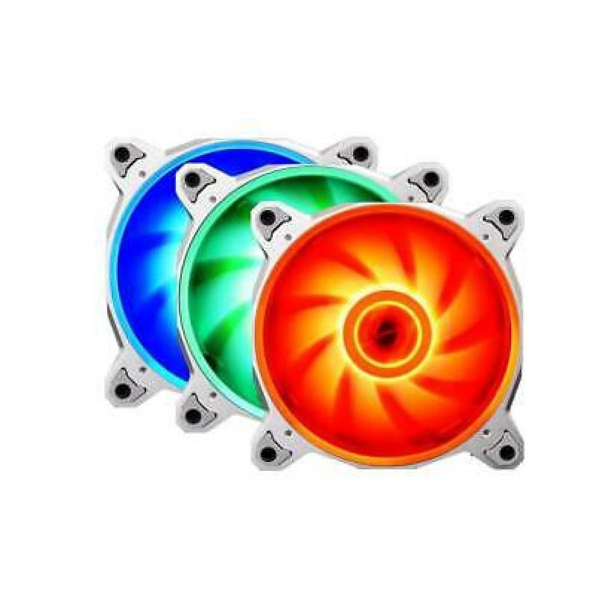 Kit Fan com 3 Unidades Lian Li Bora BR Lite RGB 120mm, Silver