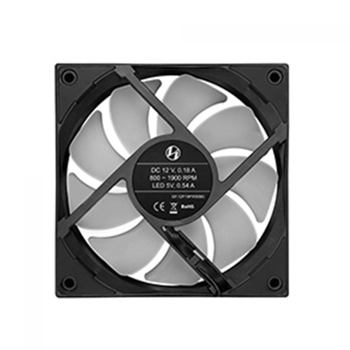 Kit Fan com 3 Unidades Lian Li ST120, ARGB, Black, 120mm, ST120-3B