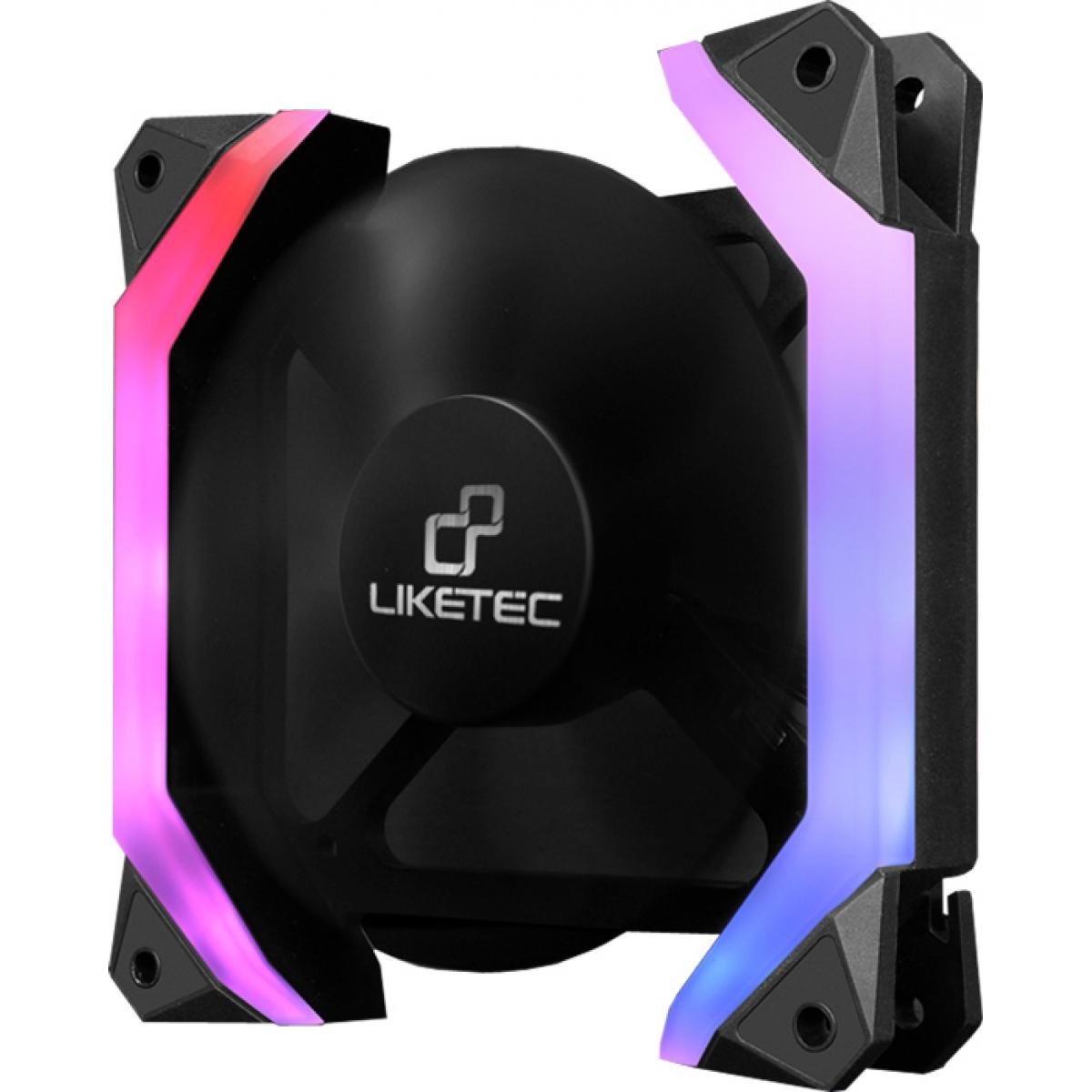 Kit Fan com 3 Unidades Liketec Fantom RGB, 120mm
