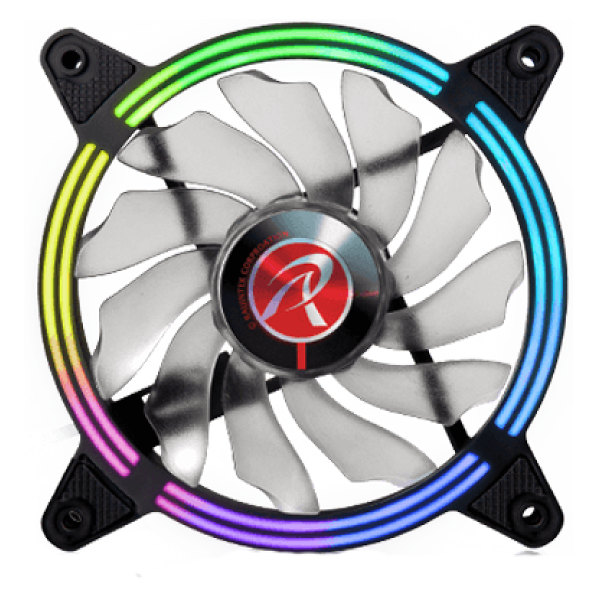 Kit Fan com 3 Unidades Raijintek SKLERA 12 RBW ADD-3, ARGB, 120mm, 0R40B00099