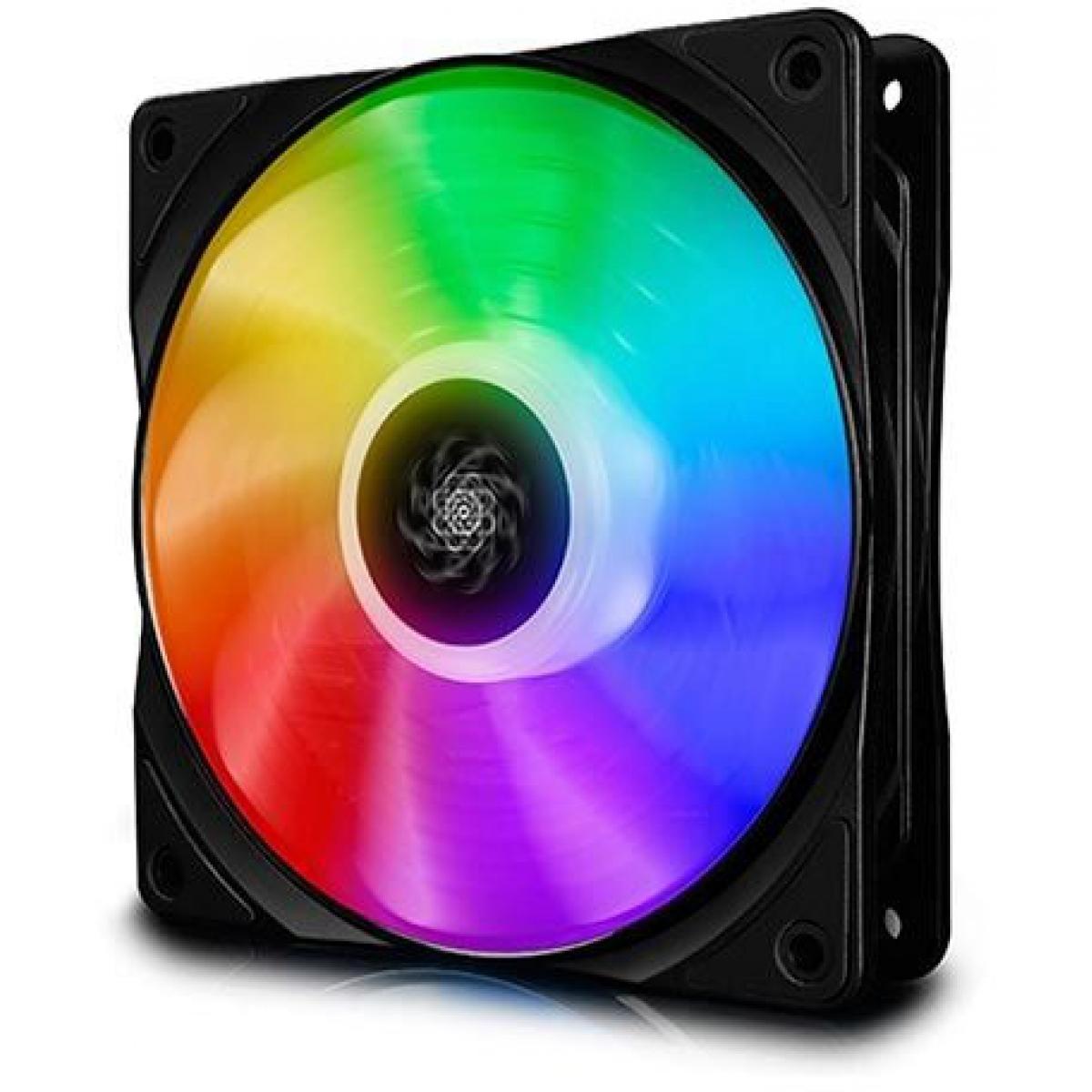 Kit Fan com 3 Unidades Deepcool CF120, RGB 120mm, DP-FA-RGB-CF120-3