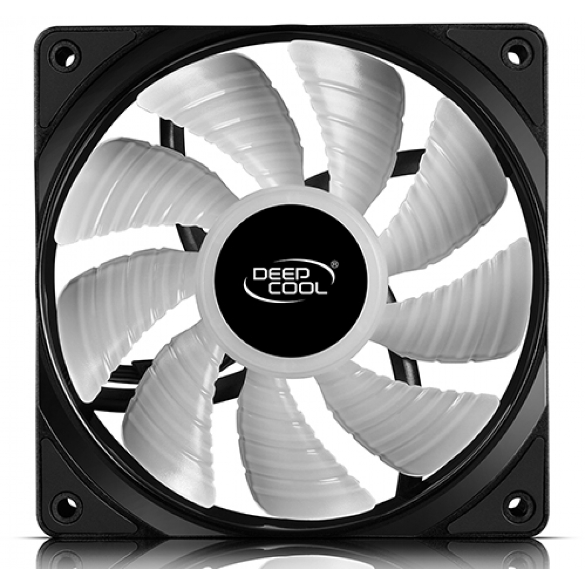 Kit Fan com 3 Unidades Deepcool RF120, RGB 120mm, DP-FRGB-RF120-3C