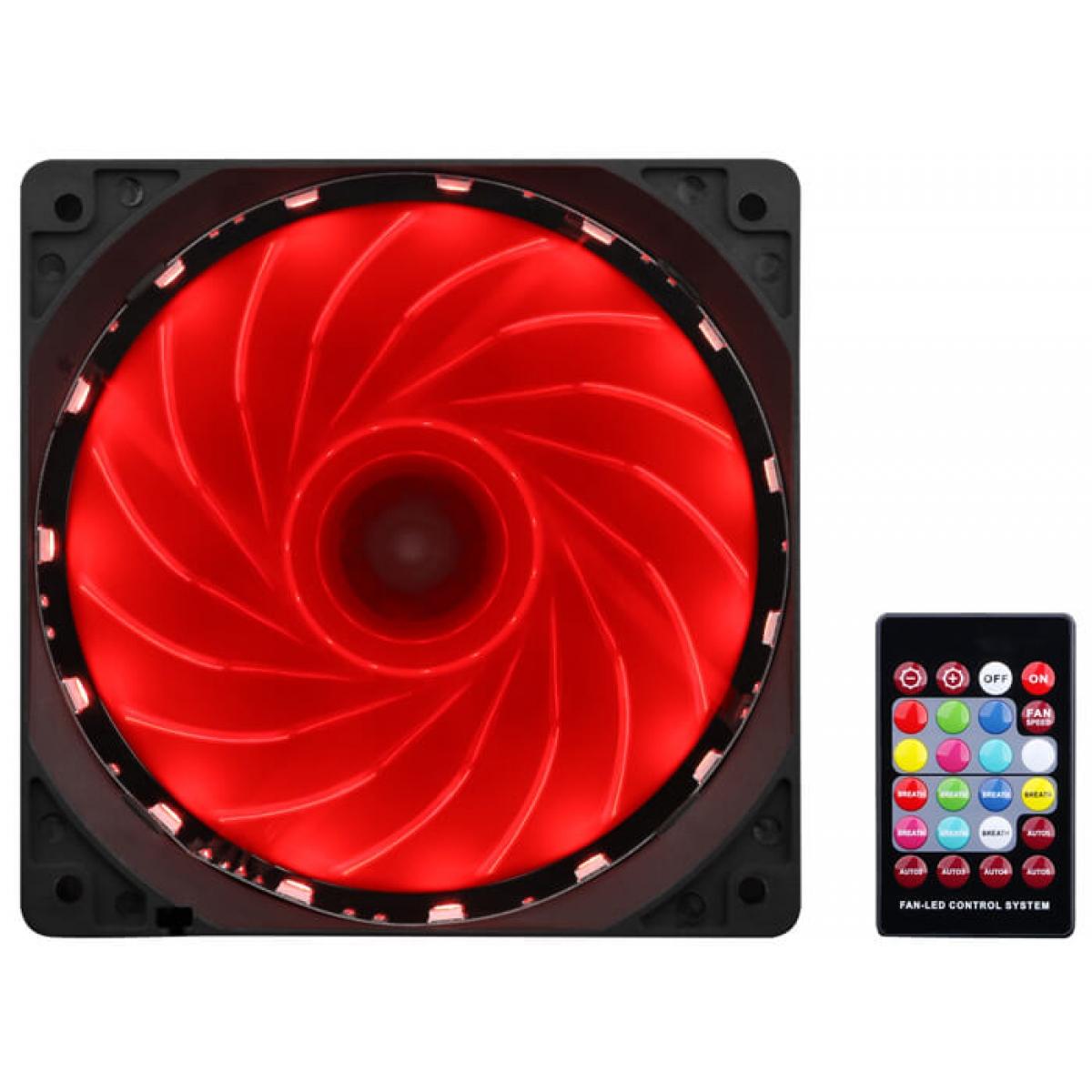 Kit Fan com 3 Unidades Redragon, RGB, 120mm, Com Controladora, GC-F006