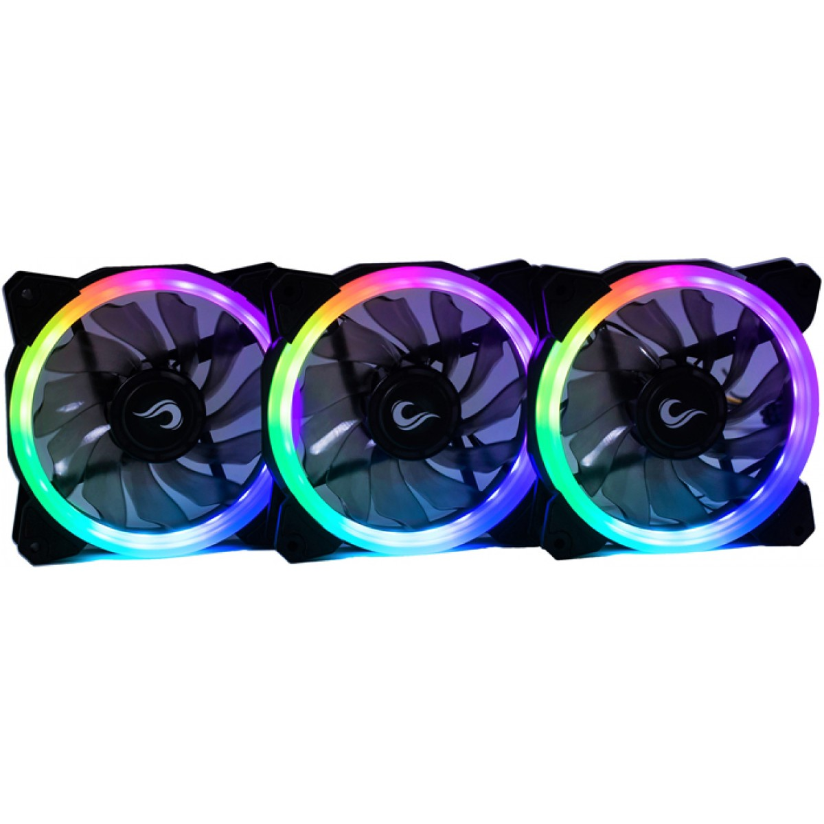 Kit Fan Rise Mode Energy Smart 120mm LED RGB RM-FN-02-RGB