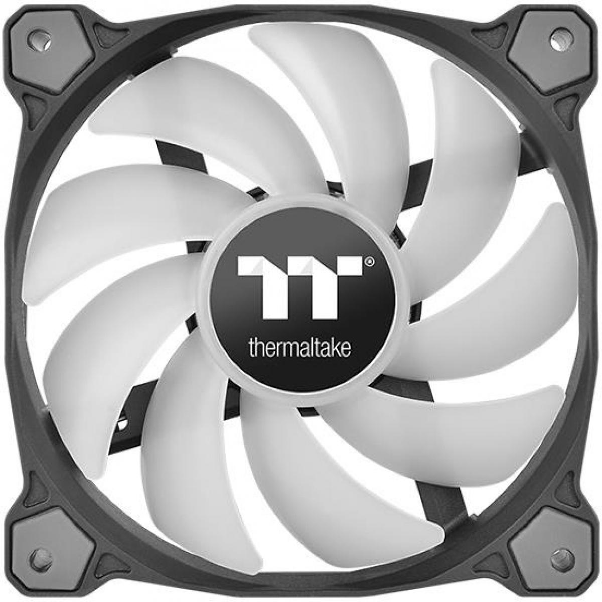 Kit Fan com 3 Unidades Thermaltake Pure 12, ARGB Sync 120mm, com Controlador, CL-F079-PL12SW-A