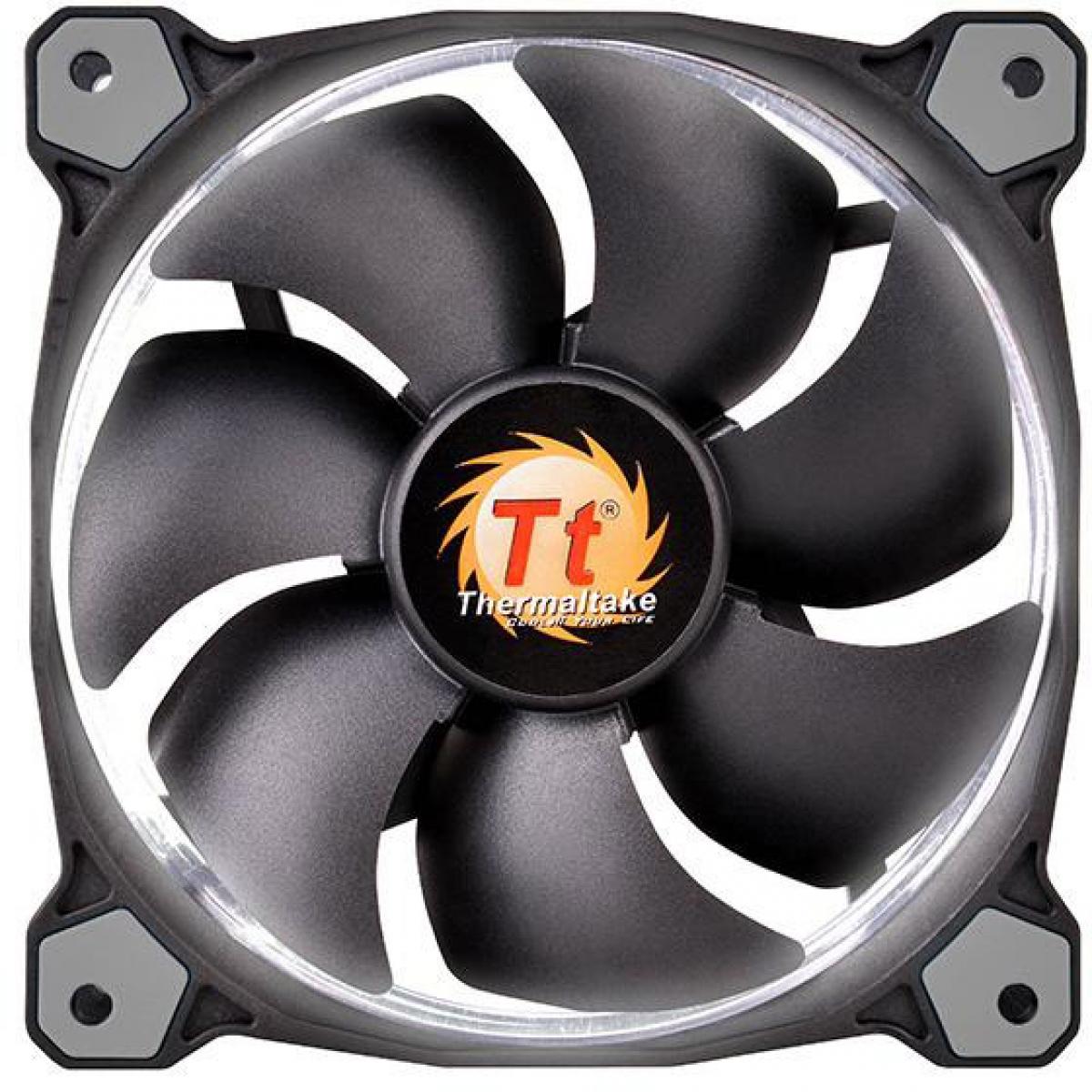 Kit Fan com 3 Unidades Thermaltake Riing 12, LED White 120mm, CL-F055-PL12WT-A