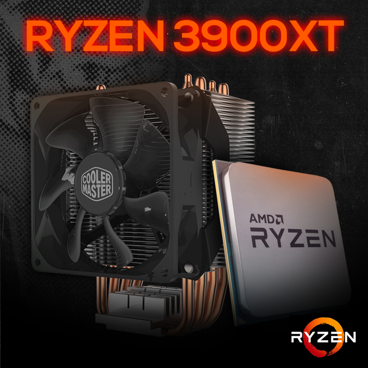 Kit Processador AMD Ryzen 9 3900XT 3.8ghz (4.7ghz Turbo), 12-cores 24-threads, + COOLER MASTER HYPER H412R