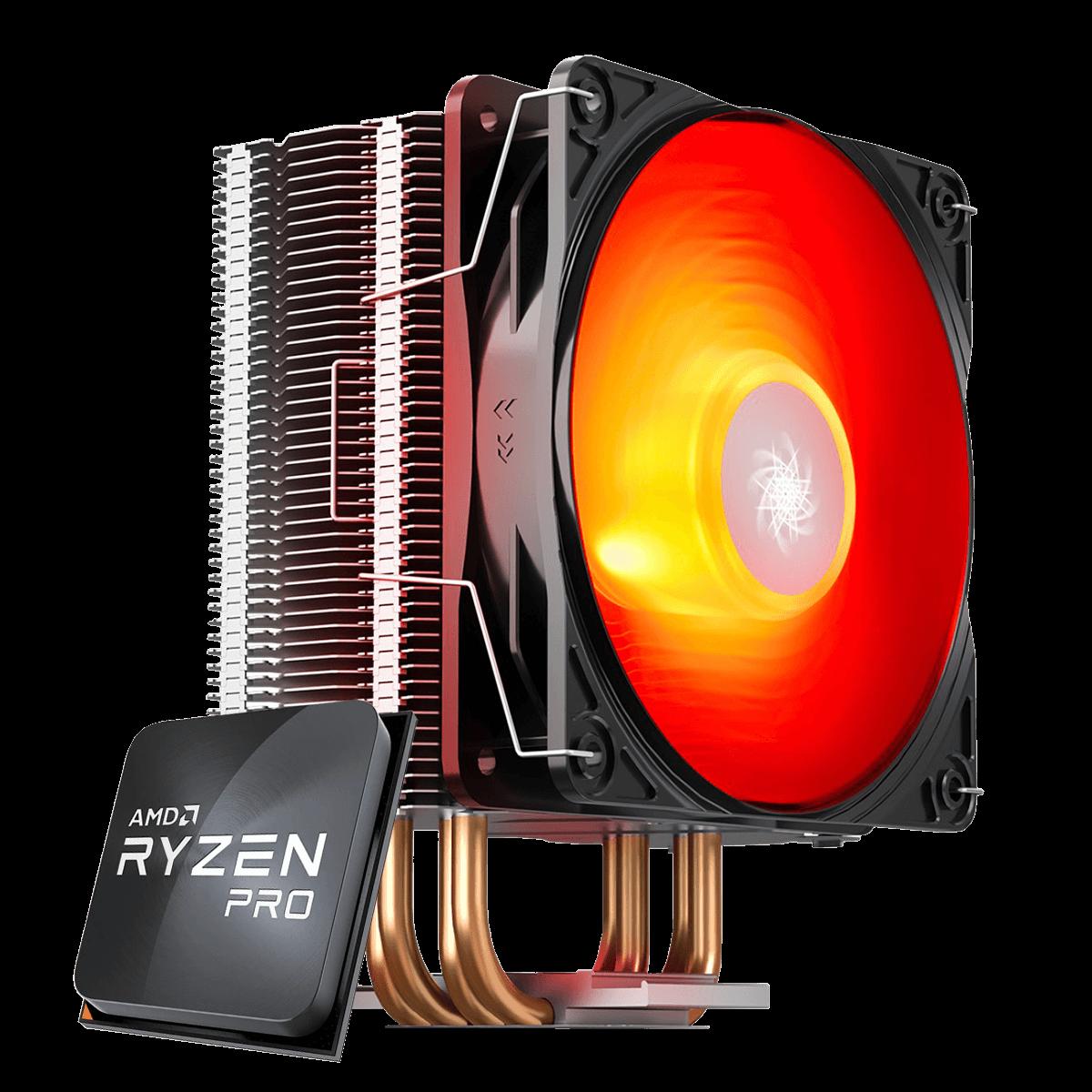 Kit Ryzen 5 PRO 4650G 4.2GHz + Cooler DeepCool Gammaxx 400 V2 Red