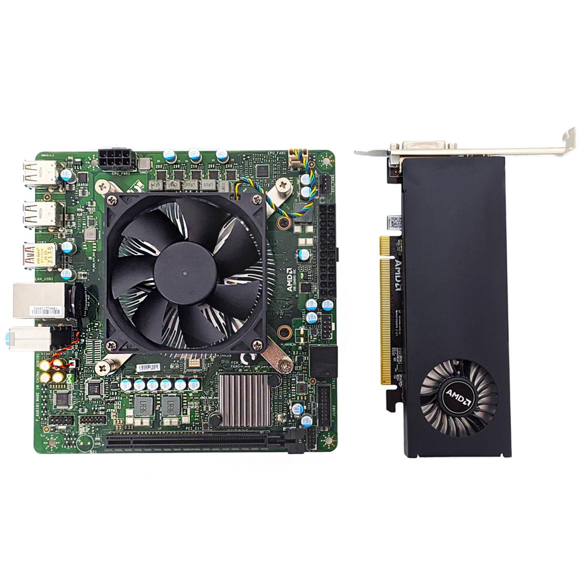 Kit Upgrade AMD Cardinal Zen 2, Processador AMD 4700S 3.6Ghz (Turbo 4.0Ghz), Placa de vídeo RX 550 2GB, Memória RAM 16GB