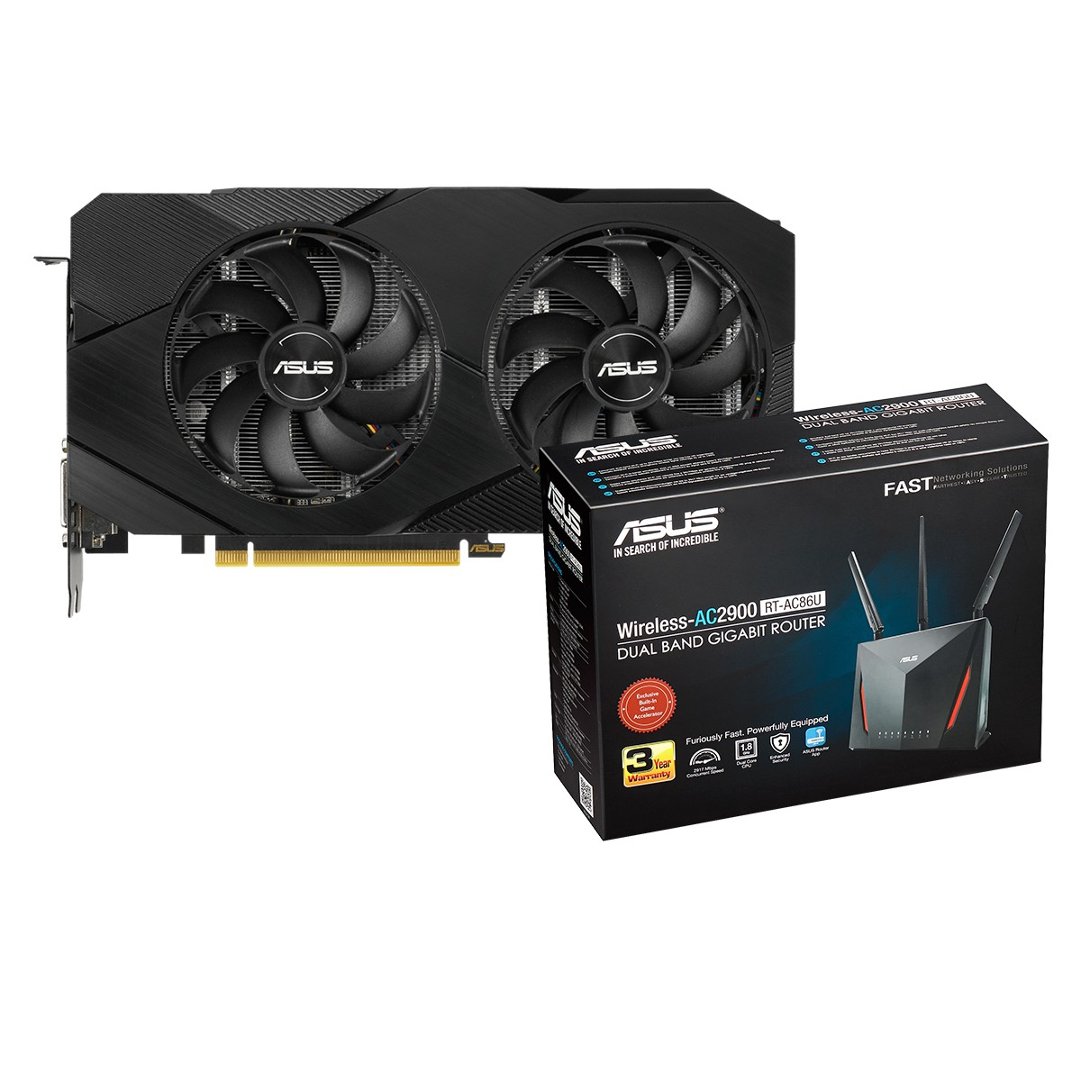 Kit Upgrade ASUS GeForce RTX 2060 OC EVO Dual + ASUS RT-AC86U