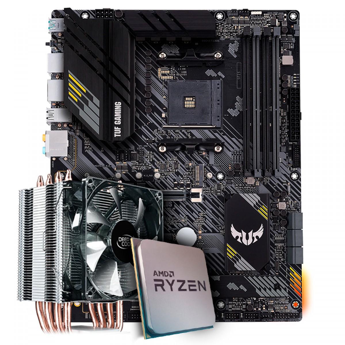 Kit Upgrade, AMD Ryzen 7 3800X, Asus TUF Gaming B550-Plus, Cooler Deepcool Gammaxx