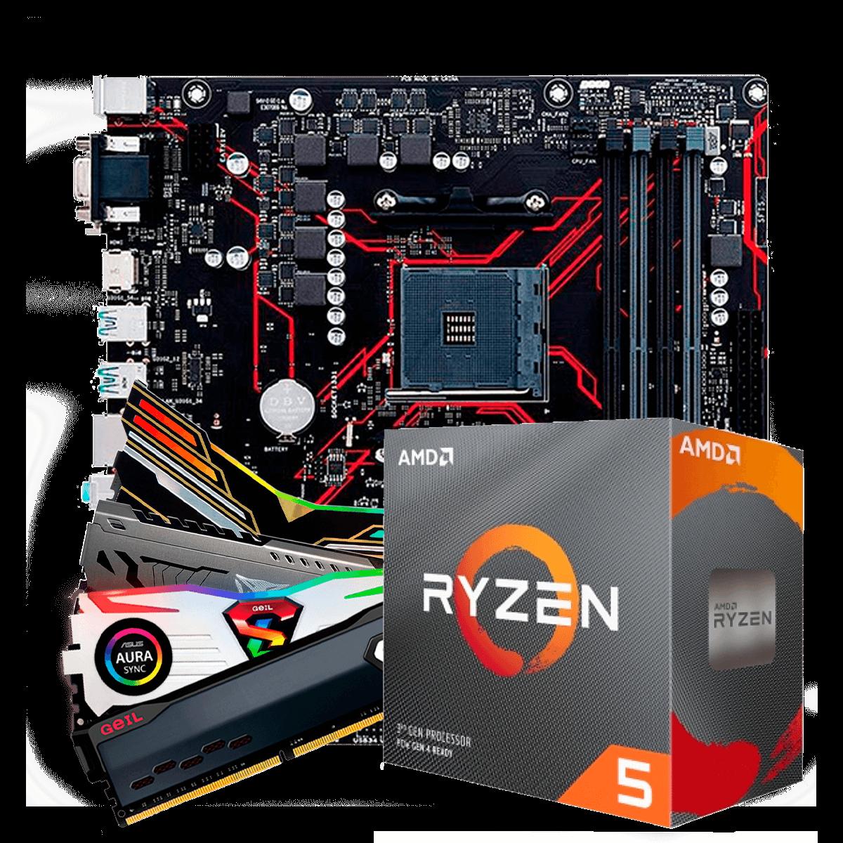 Kit Upgrade, AMD Ryzen 5 2600, Asus Prime B450M Gaming/BR, Memória DDR4 8GB 3000MHZ