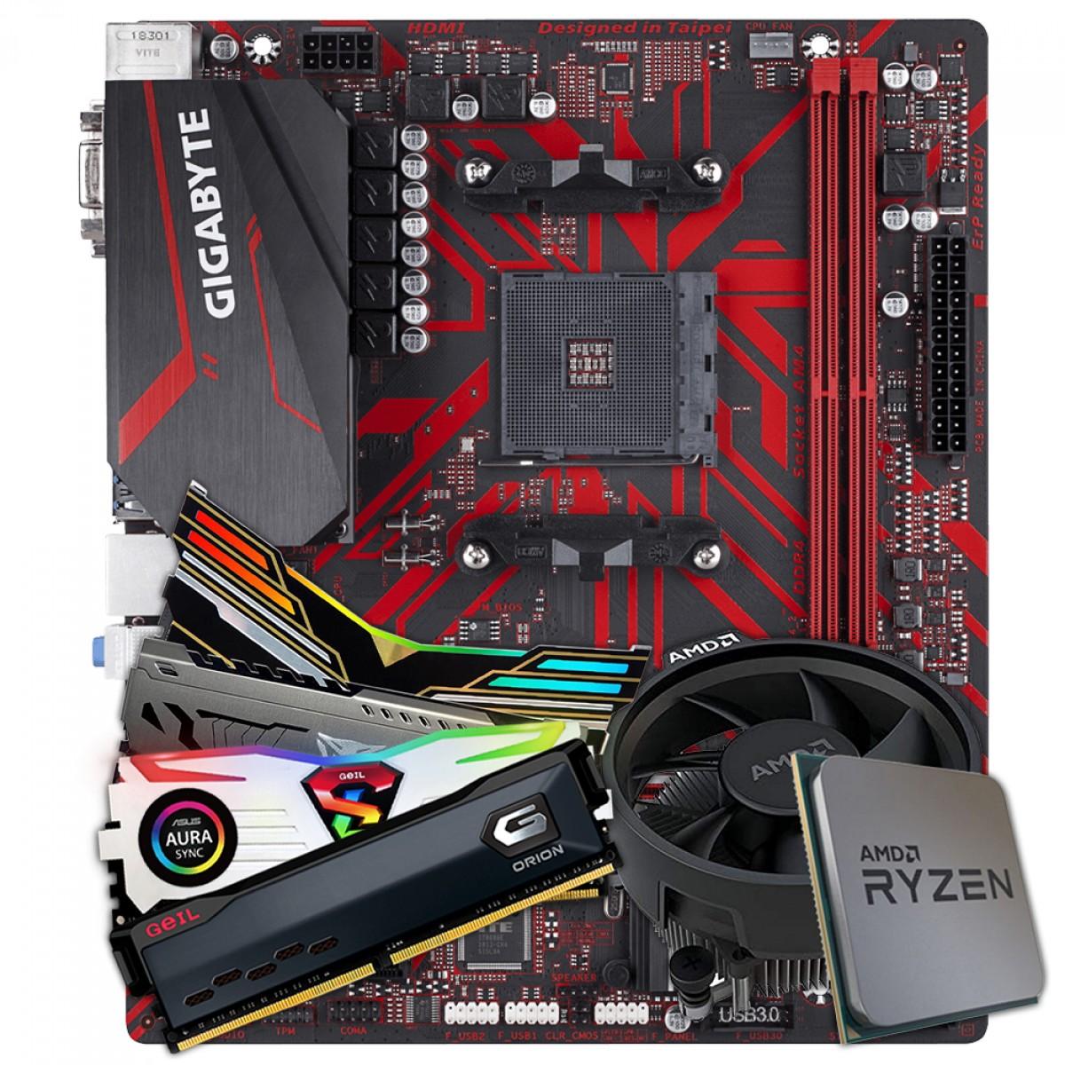 Kit Upgrade  GIGABYTE B450M GAMING +  AMD Ryzen 5 3400G 3.7GHz +  DDR4 8GB 2666MHZ