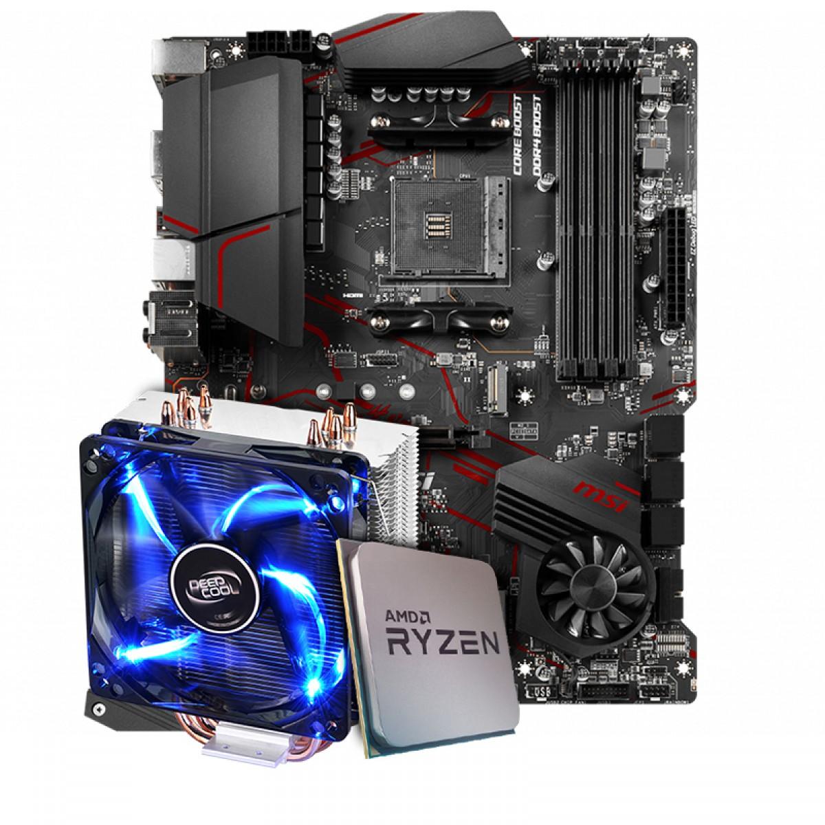 Kit Upgrade Placa Mãe MSI MPG X570 Gaming Plus, AMD AM4 + Processador AMD Ryzen 7 3800x 3.9GHz