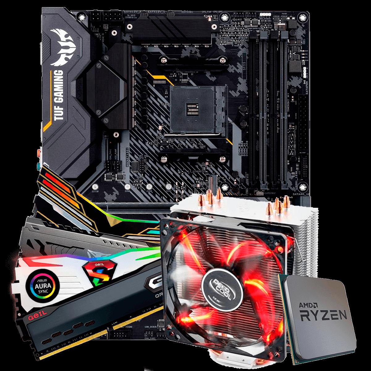 Kit Upgrade, AMD Ryzen 9 3900X, Asus TUF Gaming X570-Plus, Memória DDR4 16GB 3000MHz, Cooler Deepcool Gammaxx 400