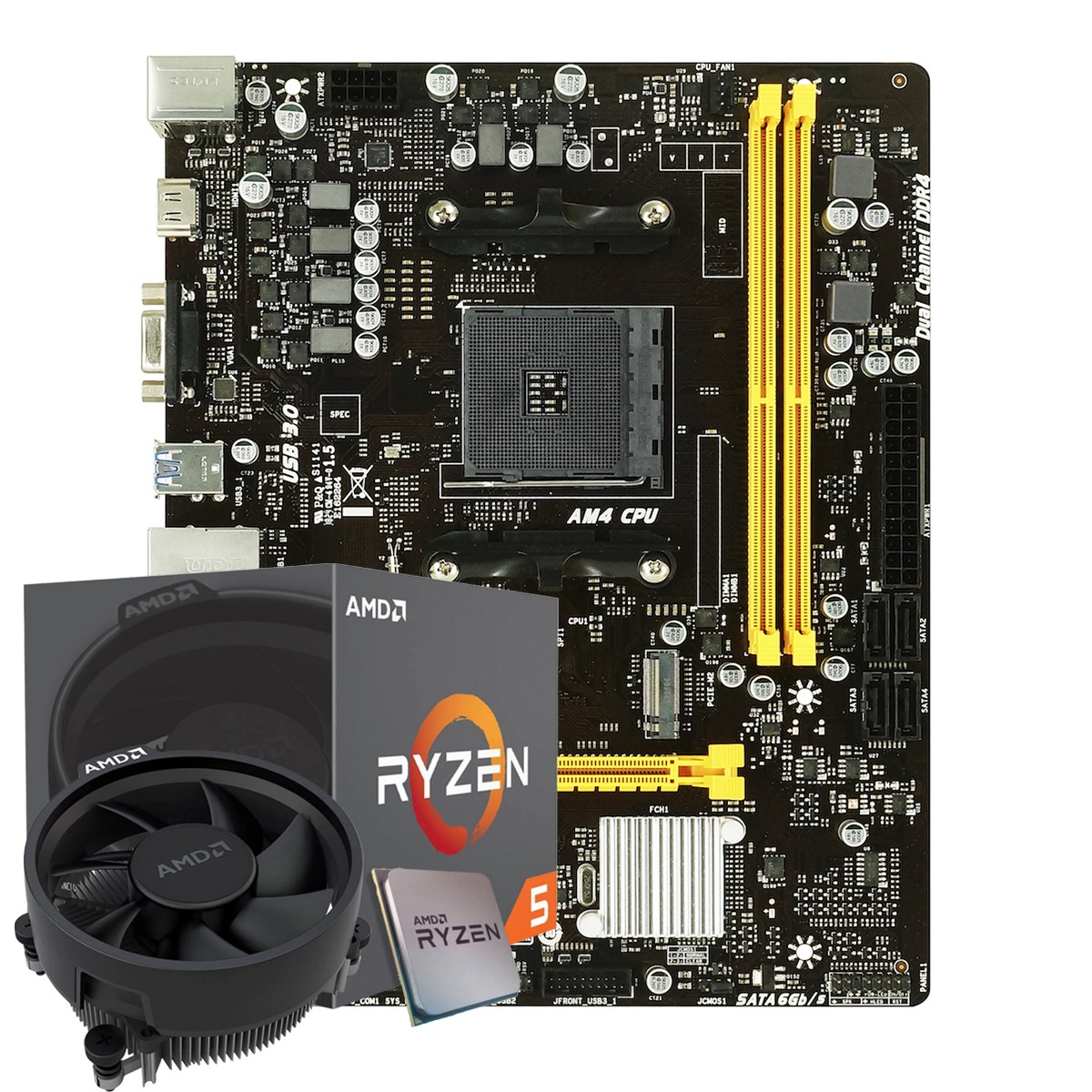 Kit Upgrade, AMD Ryzen 5 2600, Biostar B450MH