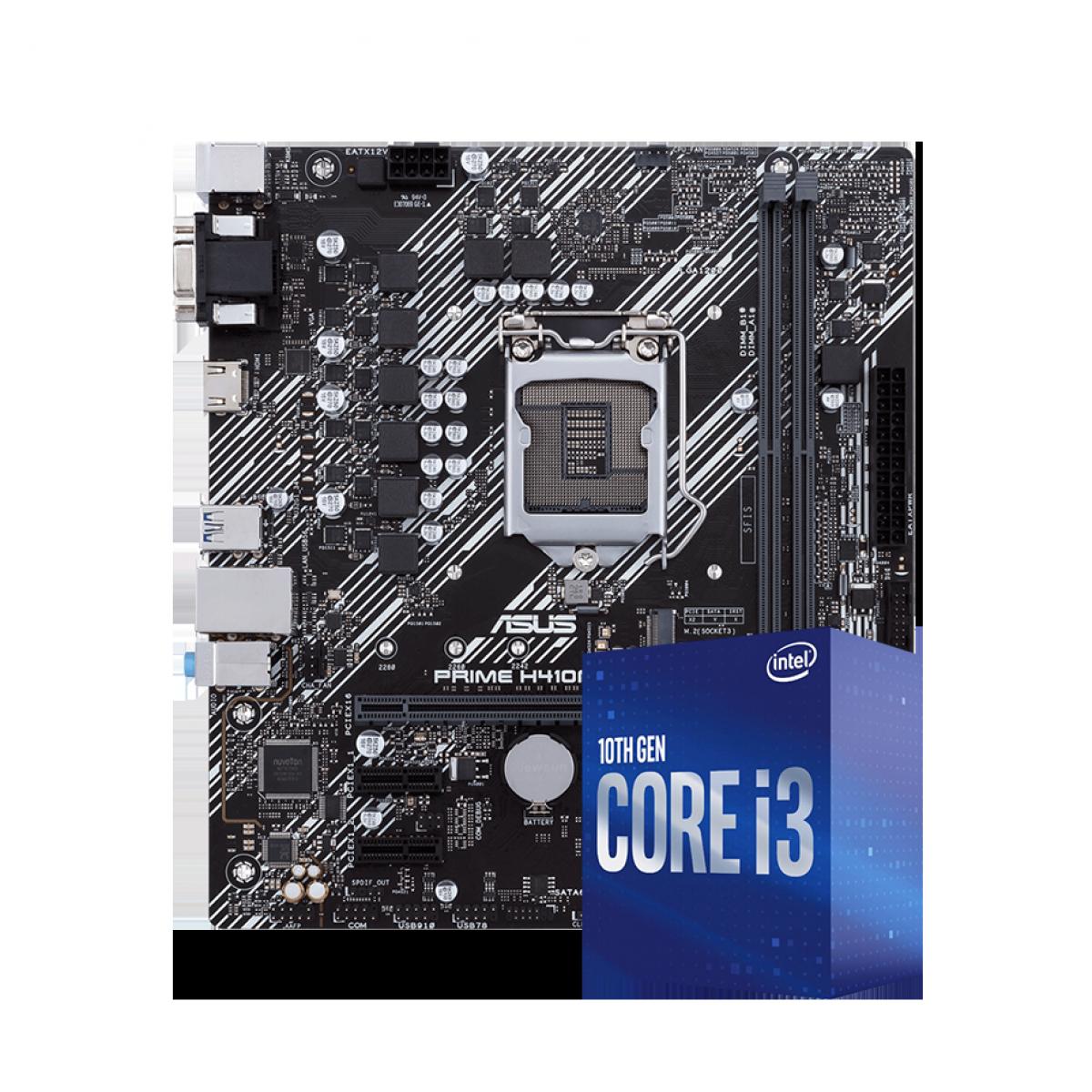Kit Upgrade, Intel Core i3 10100,Asus Prime H410M-E