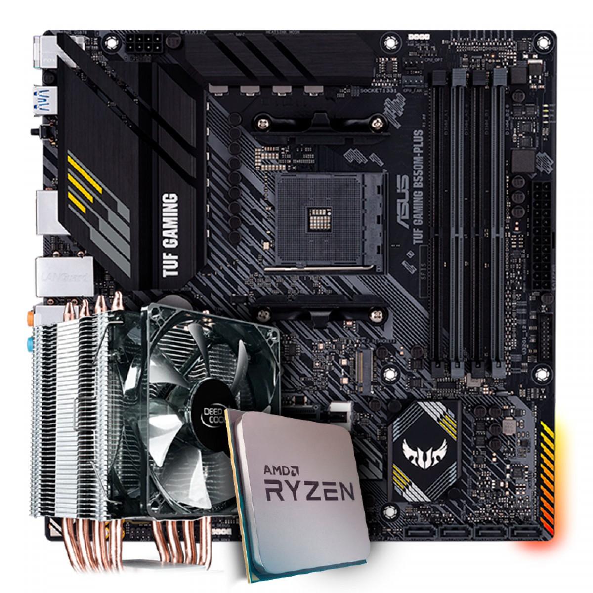 Kit Upgrade, AMD Ryzen 7 3800X, Asus TUF Gaming B550M-Plus Wi-fi, Cooler Deepcool Gammaxx