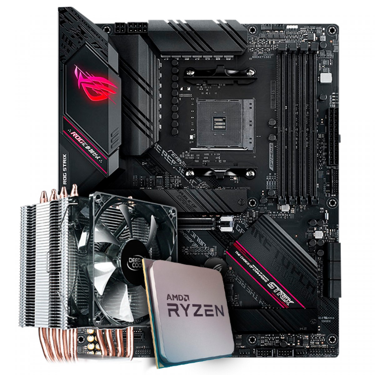 Kit Upgrade, AMD Ryzen 9 3900X, Asus ROG Strix B550-F Gaming, Cooler Deepcool Gammaxx