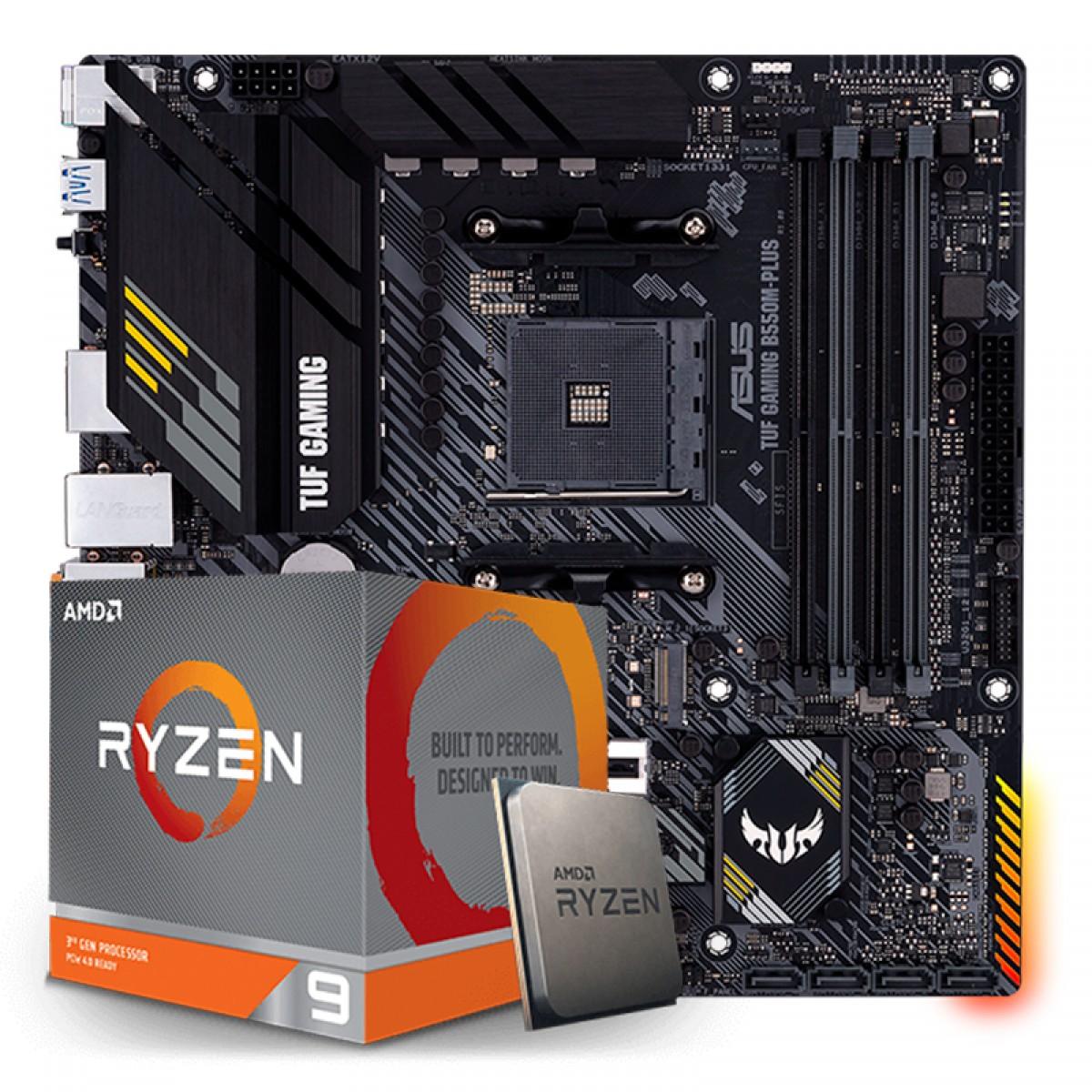 Kit Upgrade, AMD Ryzen 9 3900XT, Asus TUF Gaming B550M-Plus Wi-fi