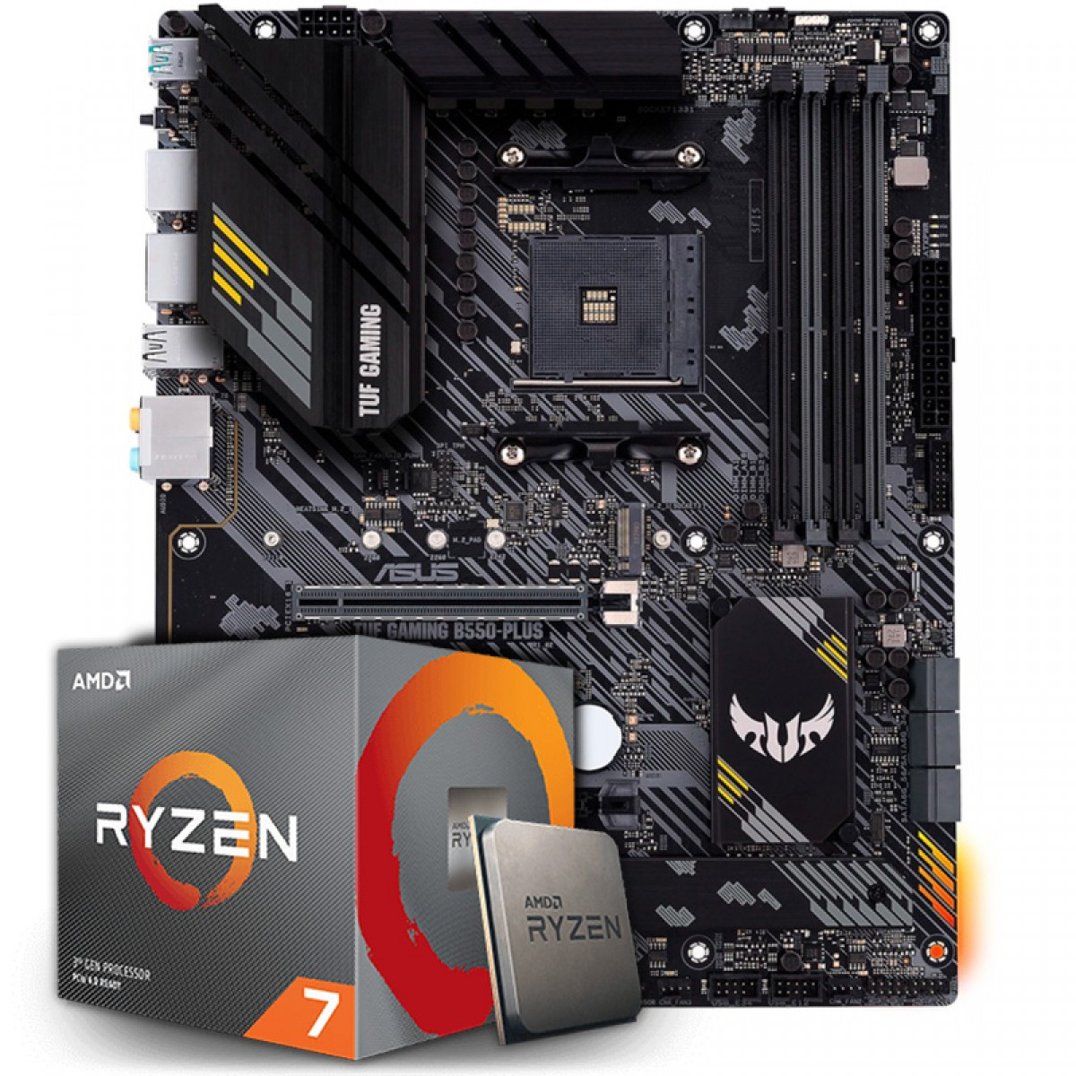 Kit Upgrade, AMD Ryzen 7 3700X, Asus TUF Gaming B550-Plus