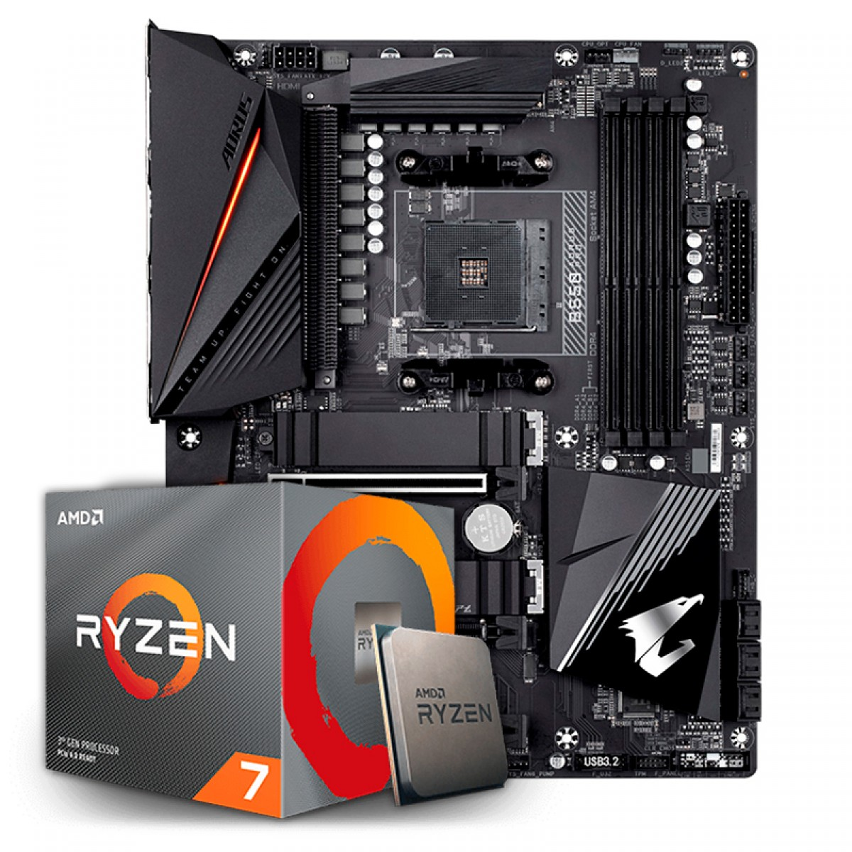 Kit Upgrade, AMD Ryzen 7 3700X, Gigabyte B550 Aorus Pro
