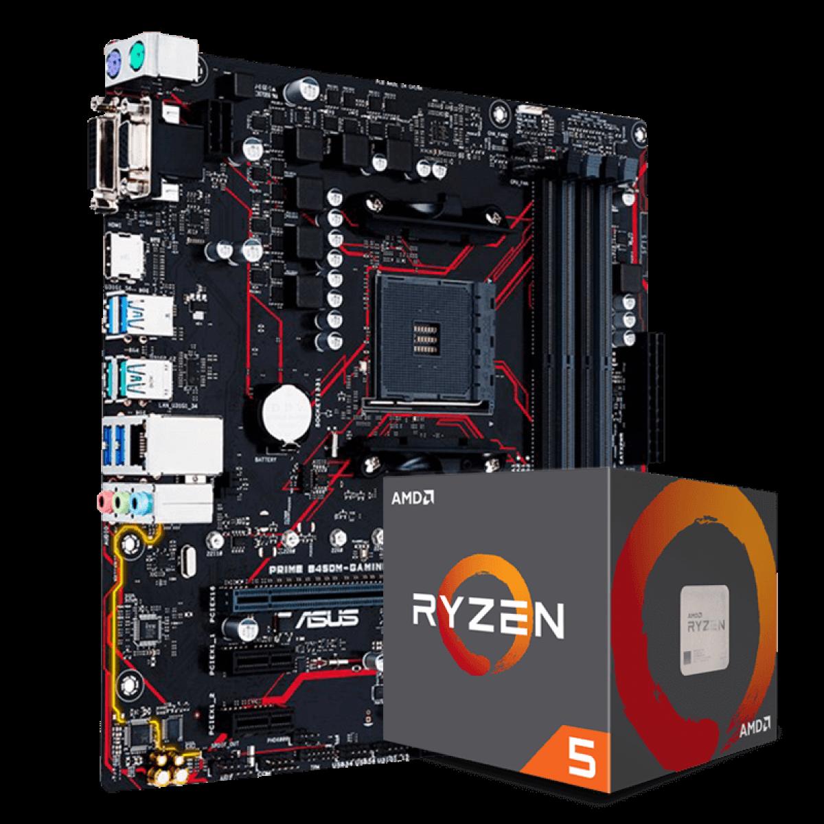 Kit Upgrade, AMD Ryzen 5 2600, Asus Prime B450M Gaming/BR