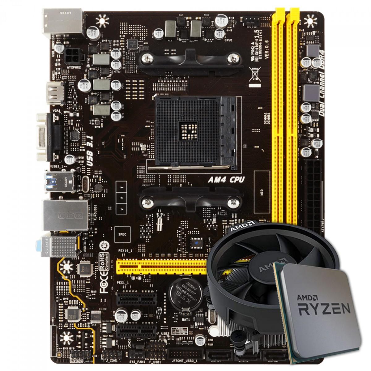 Kit Upgrade, AMD Ryzen 5 3400G, Biostar A320MH