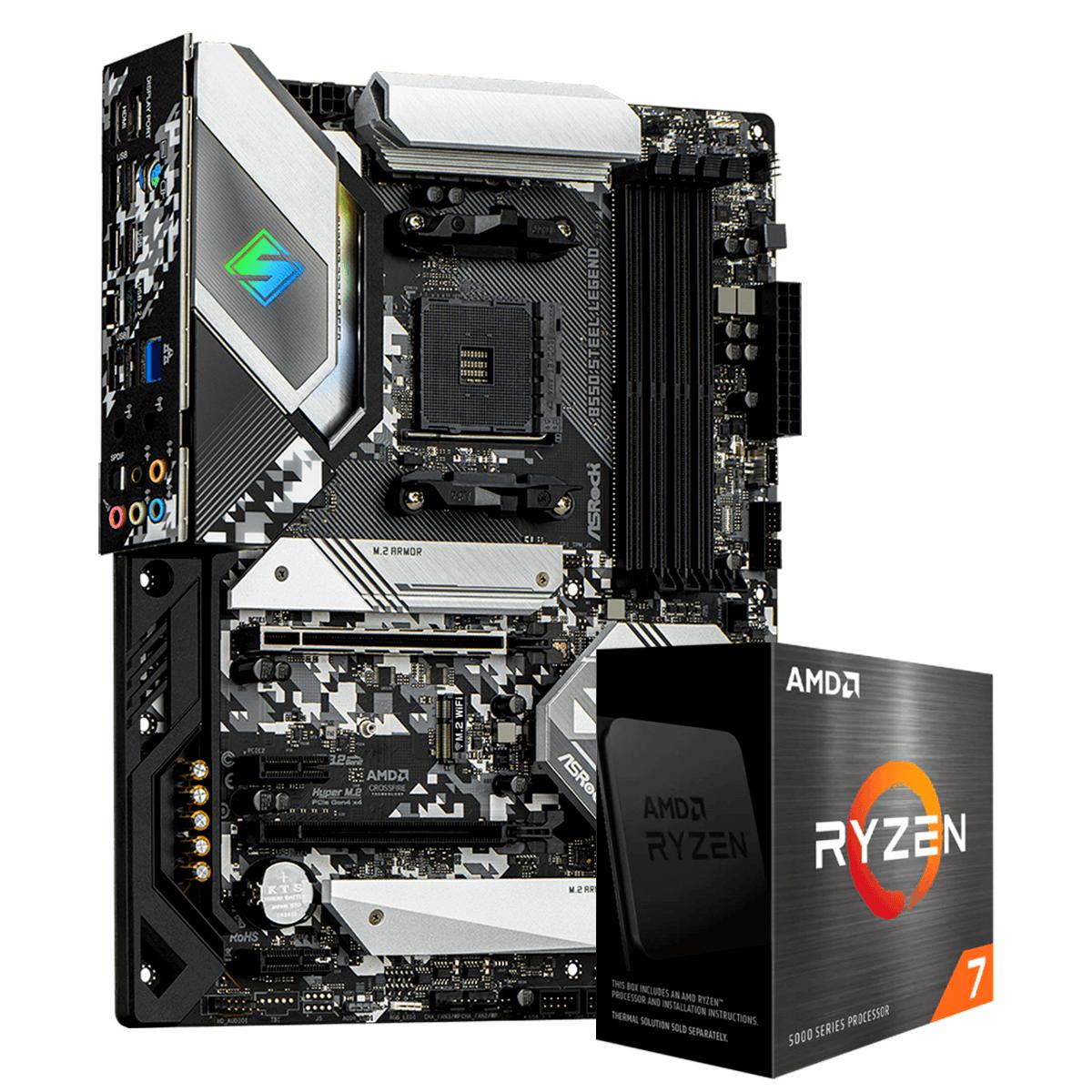 Kit Upgrade, AMD Ryzen 7 5800X, AsRock B550 Steel Legend