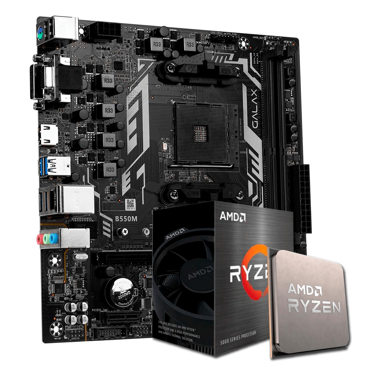 Kit Upgrade, AMD Ryzen 5 5600X, Galax B550M