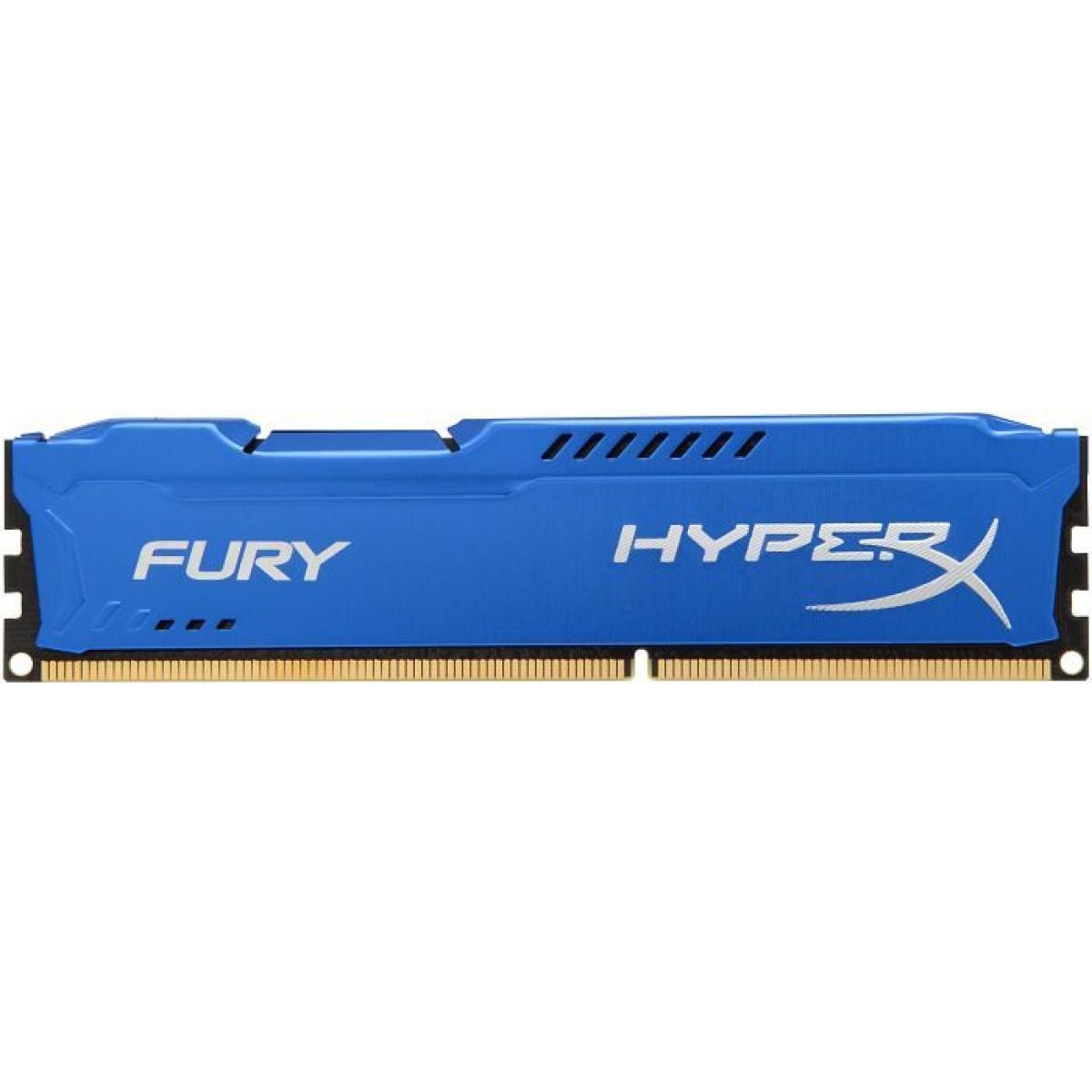 Memória DDR3 Kingston HyperX Fury, 8GB 1866MHz, Blue, HX318C10F/8