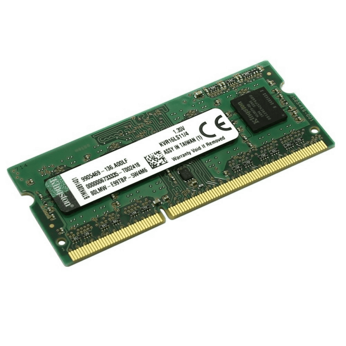 Memória DDR3 P/ Notebook Kingston, 4GB 1600Mhz, KVR16LS11/4