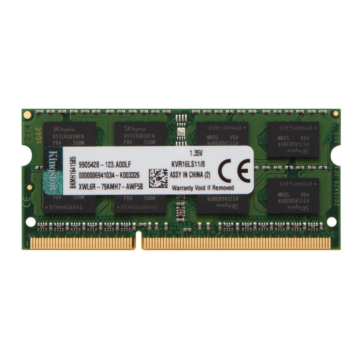 Memória DDR3 para Notebook Kingston, 8GB 1600Mhz, KVR16LS11/8