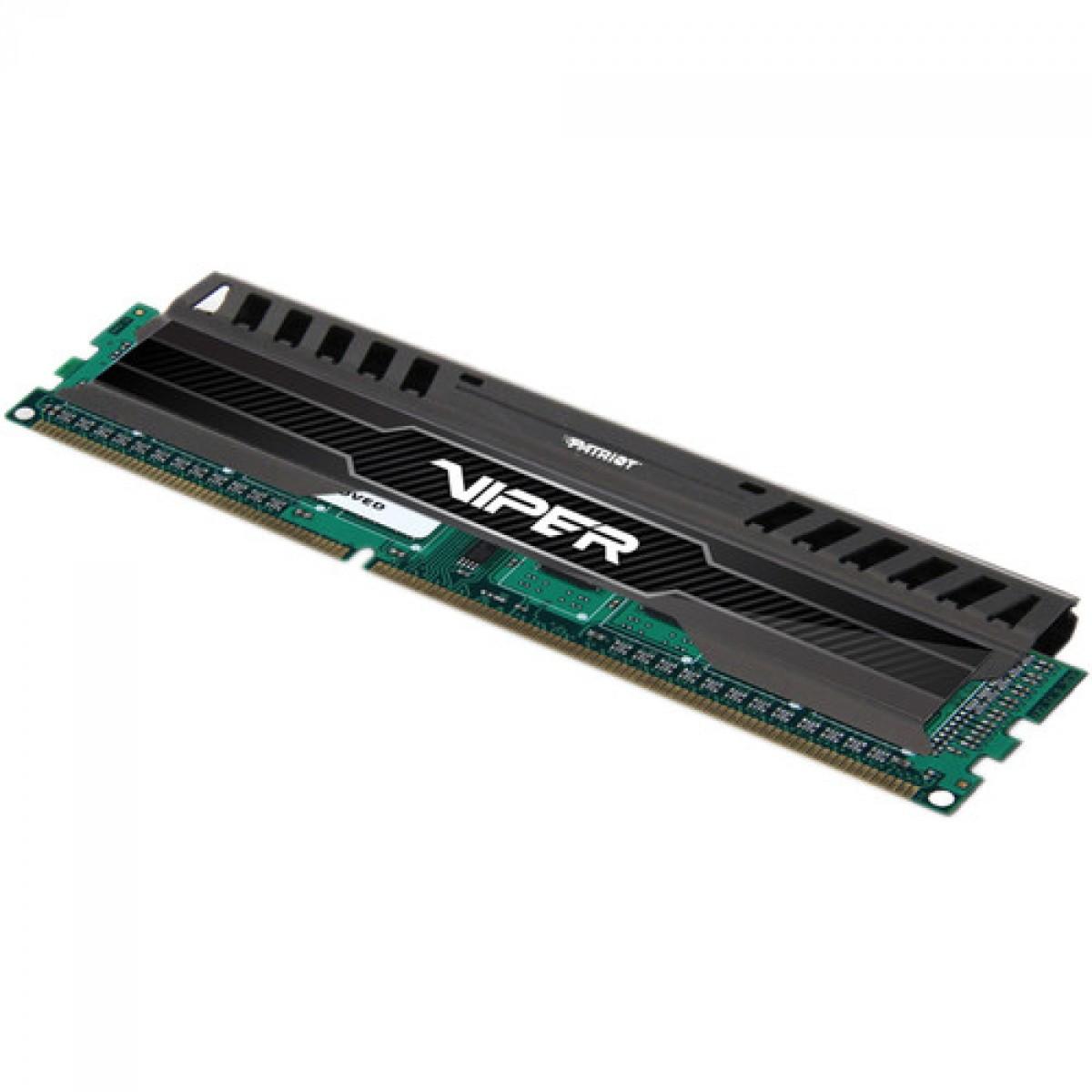 Memória DDR3 Patriot Viper 3, 8GB 1600MHz, Black, PV38G160C0