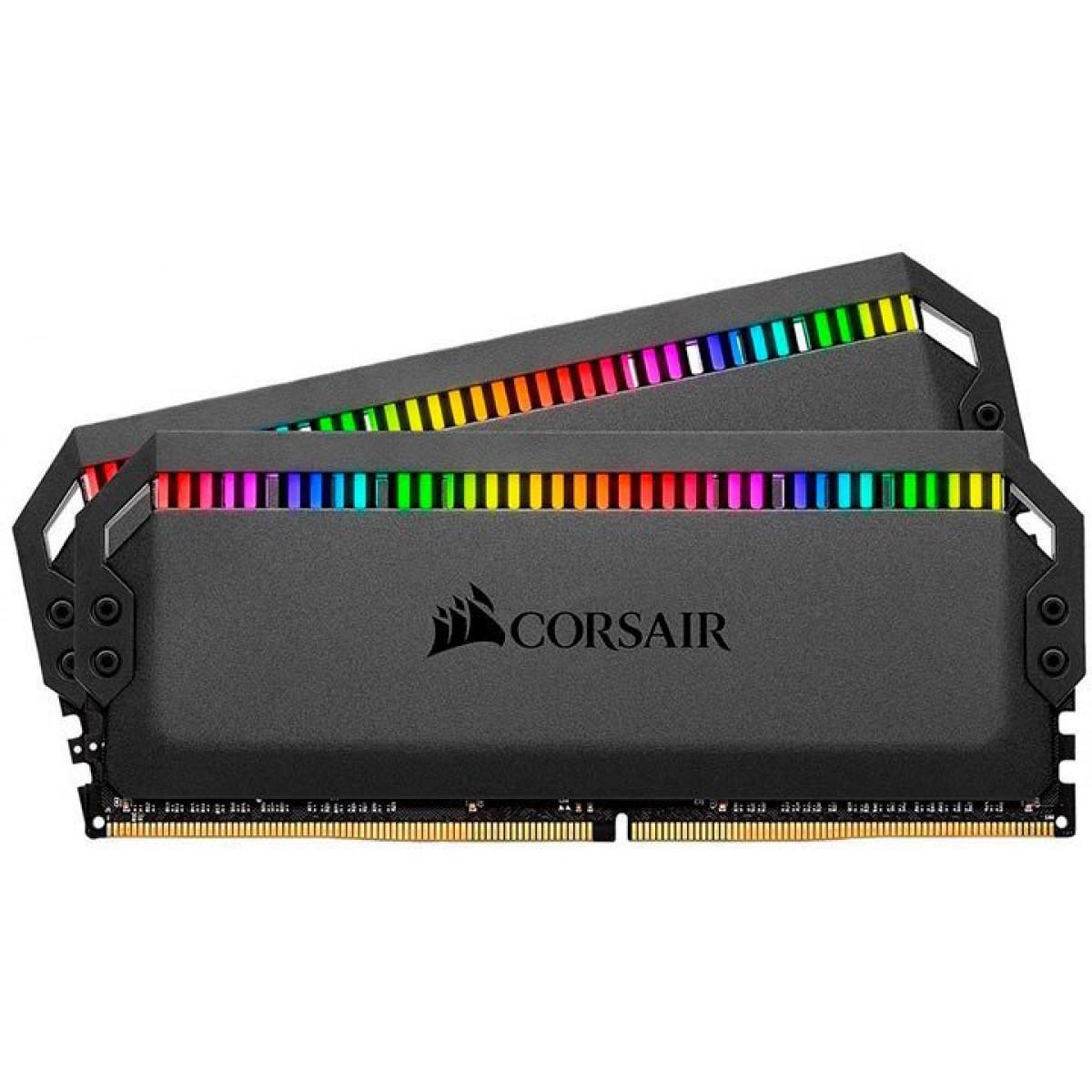 Memória DDR4 Corsair Dominator Platinum RGB, 16GB (2x8GB), 3466MHz, CMT16GX4M2C3466C16
