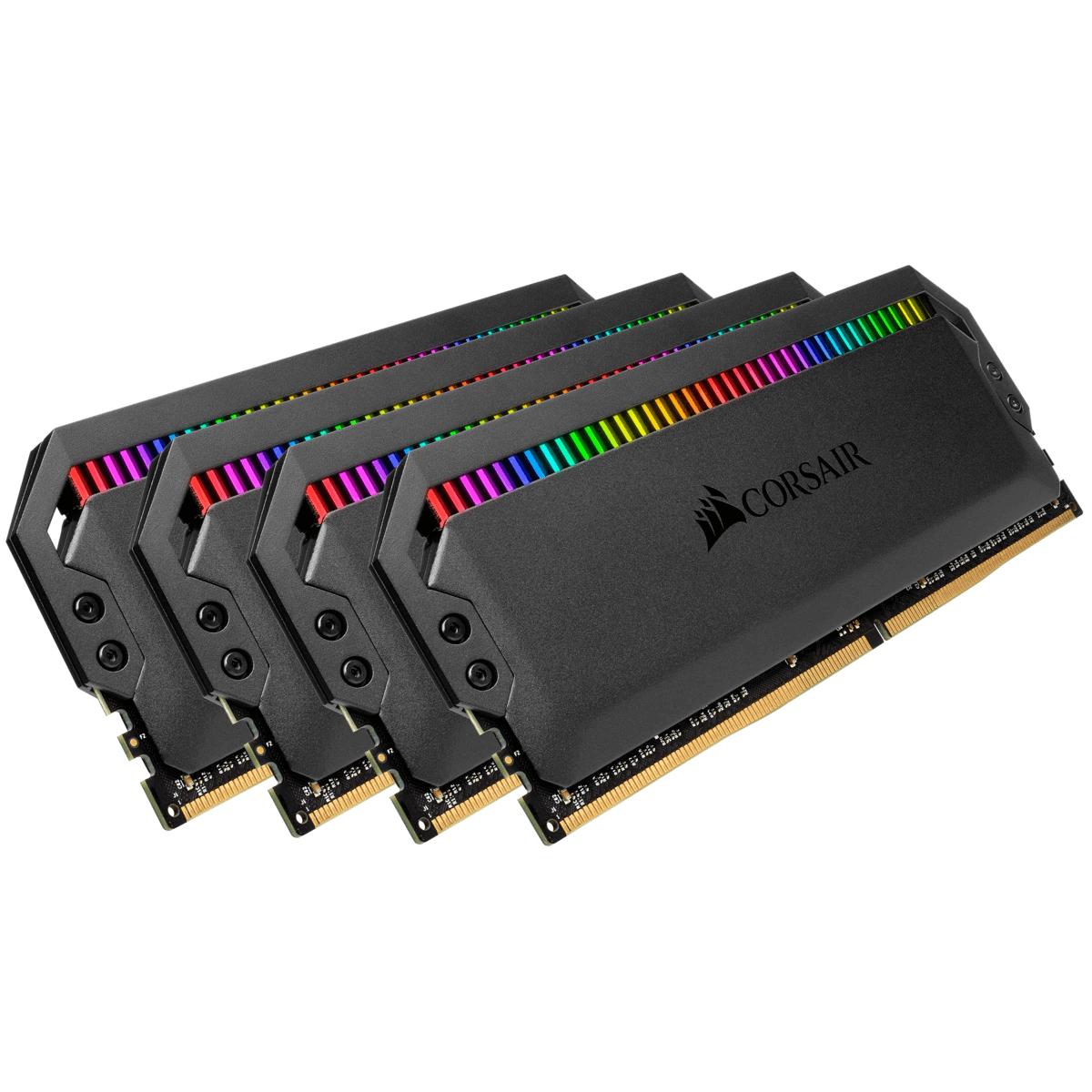 Memória DDR4 Corsair Dominator Platinum RGB, 32GB (4x8GB), 3600MHz, CMT32GX4M4C3600C18