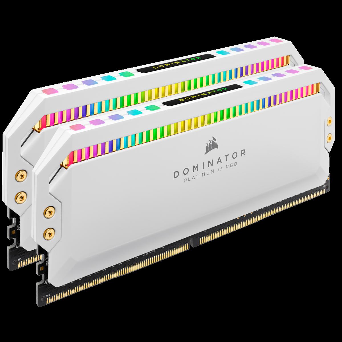 Memória DDR4 Corsair Dominator Platinum RGB, White, 16GB (2x8GB), 3600MHz, CMT16GX4M2C3600C18W