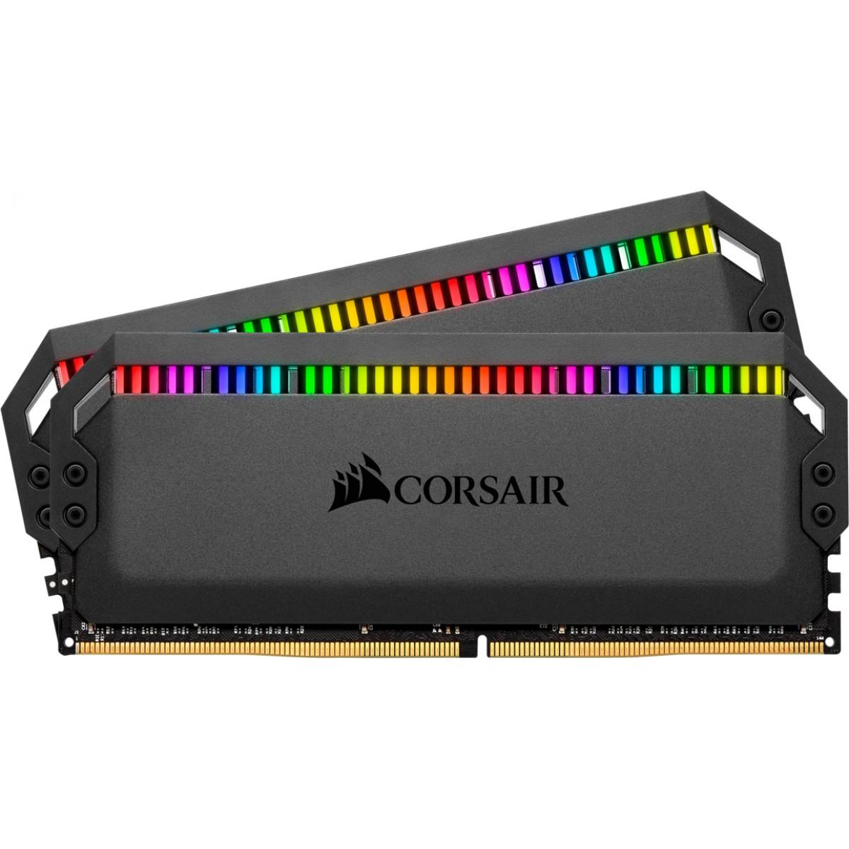 Memória DDR4 Corsair Dominator Platinum RGB, 16GB (2x8GB), 3600MHz, CMT16GX4M2C3600C18