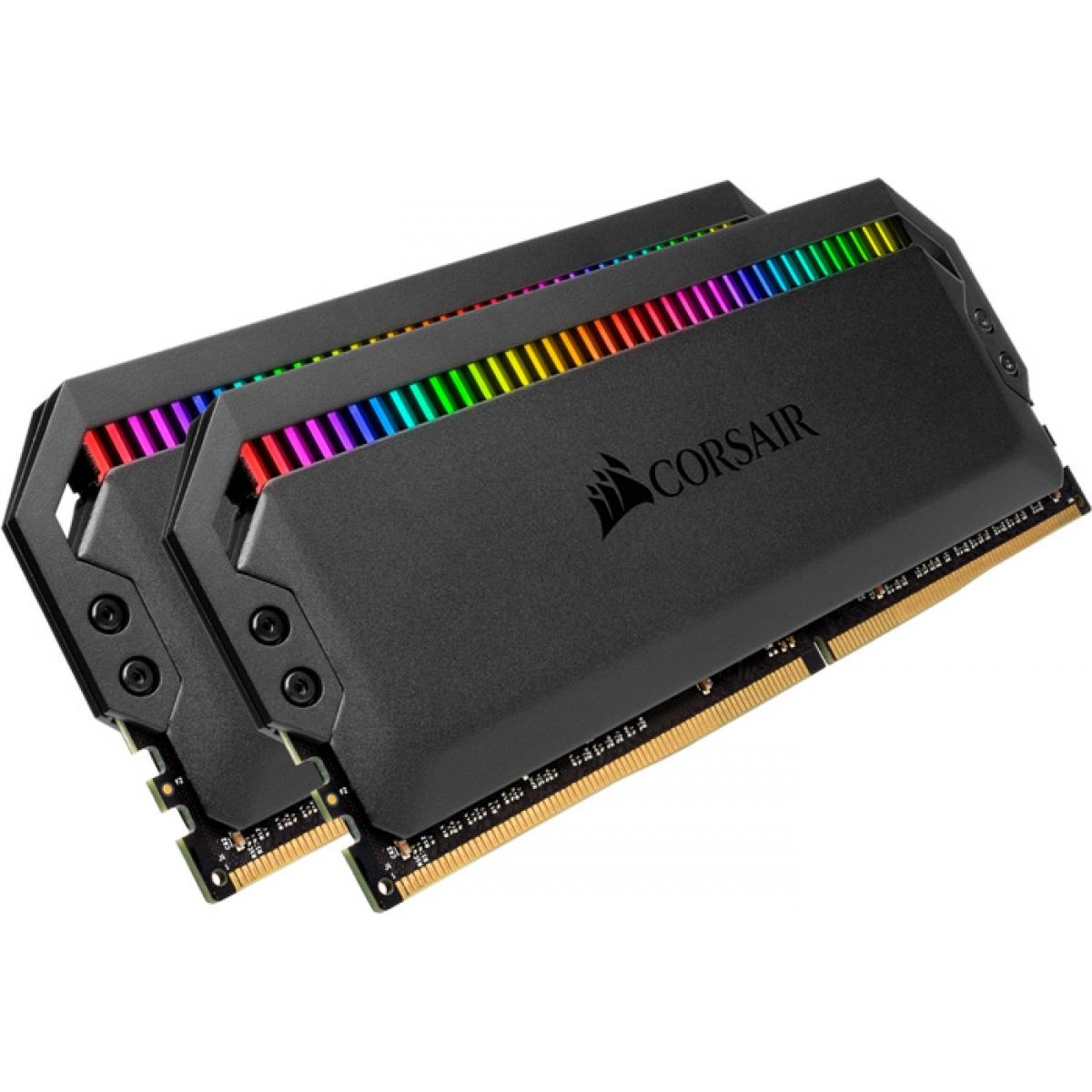 Memória DDR4 Corsair Dominator Platinum, RGB, 16GB (2x8GB), 3000MHz, CMT16GX4M2C3000C15