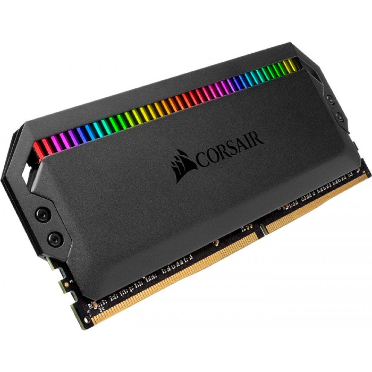 Memória DDR4 Corsair Dominator, RGB, 16GB (2x8GB), 3200MHz, CMT16GX4M2C3200C16