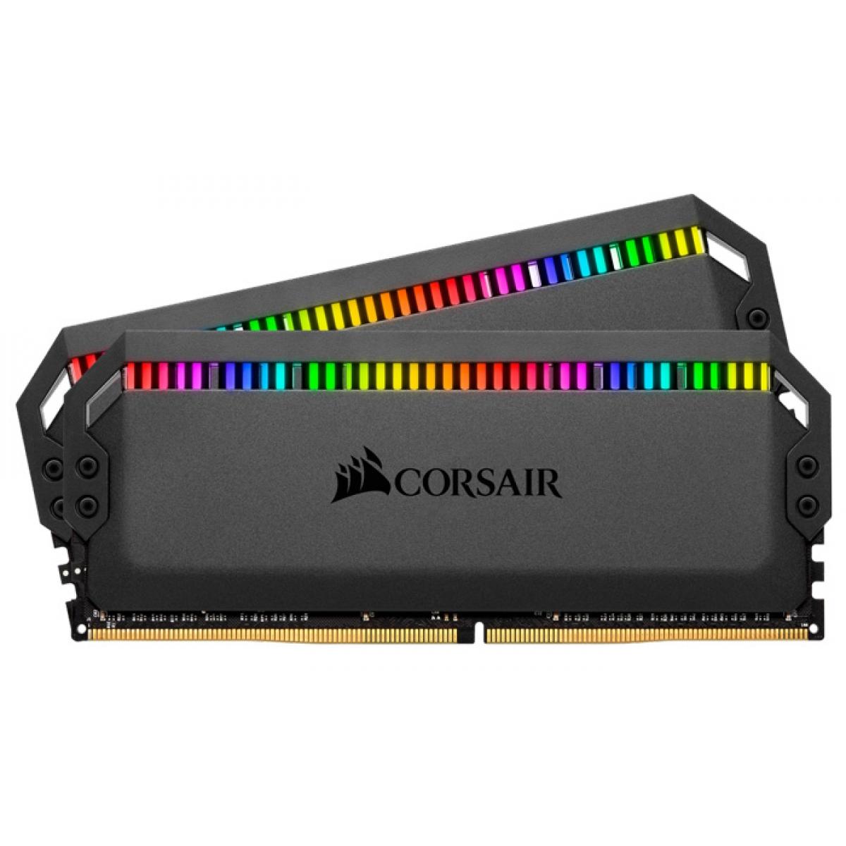 Memória DDR4 Corsair Dominator, RGB, 32GB (2x16GB), 3200MHz, CMT32GX4M2C3200C16